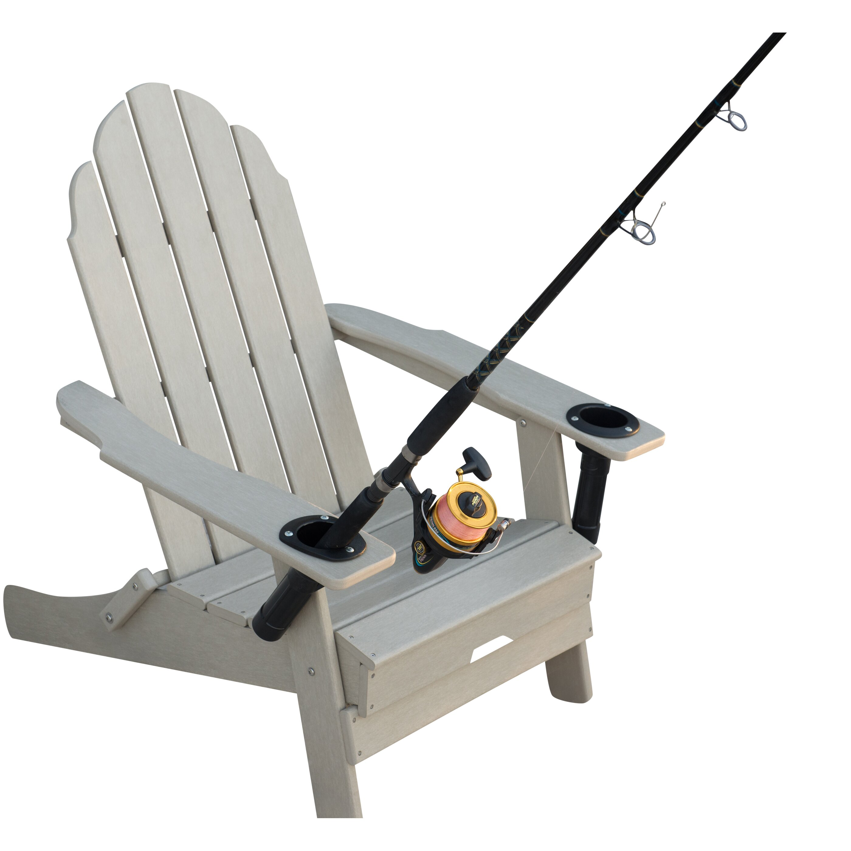 Folding Anglers Chair With Cup And Rod Holders Wayfair