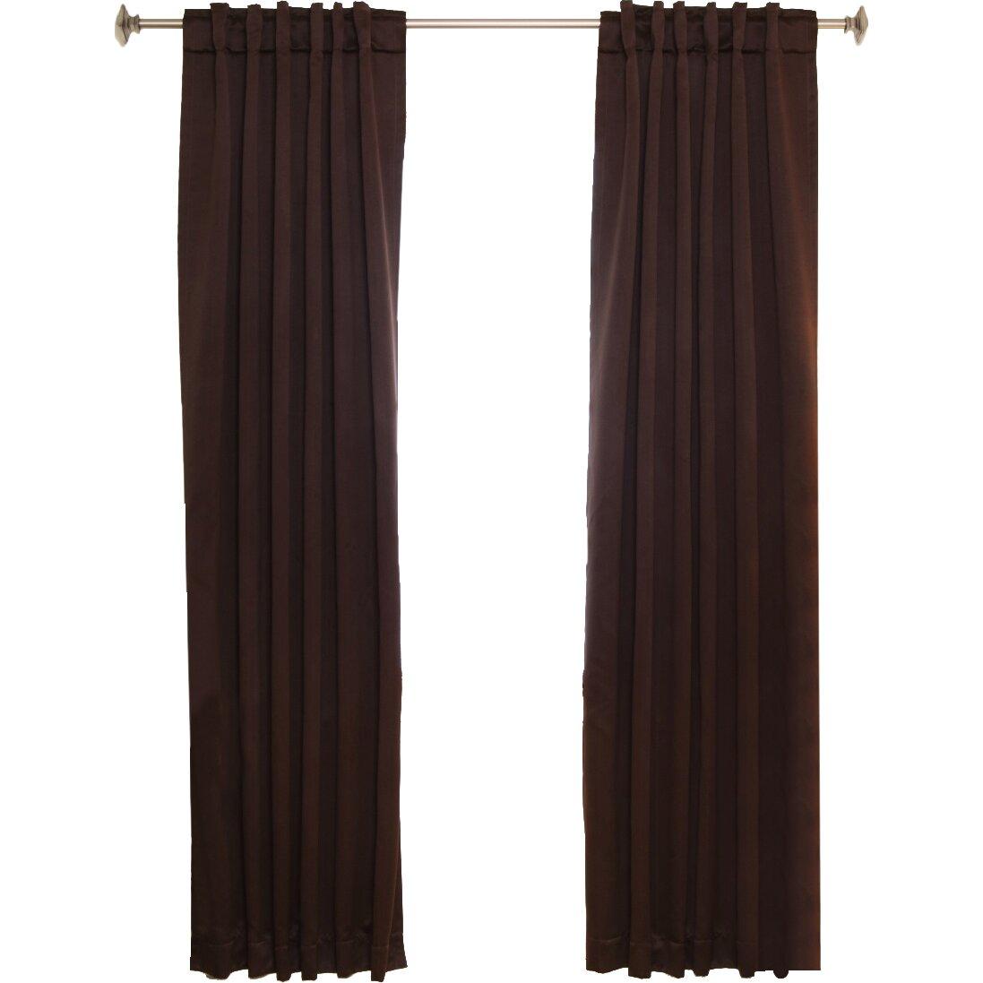 Blackout Curtain Blackout Rod Pocket Curtain Panel Set Of 2 Reviews Wayfair
