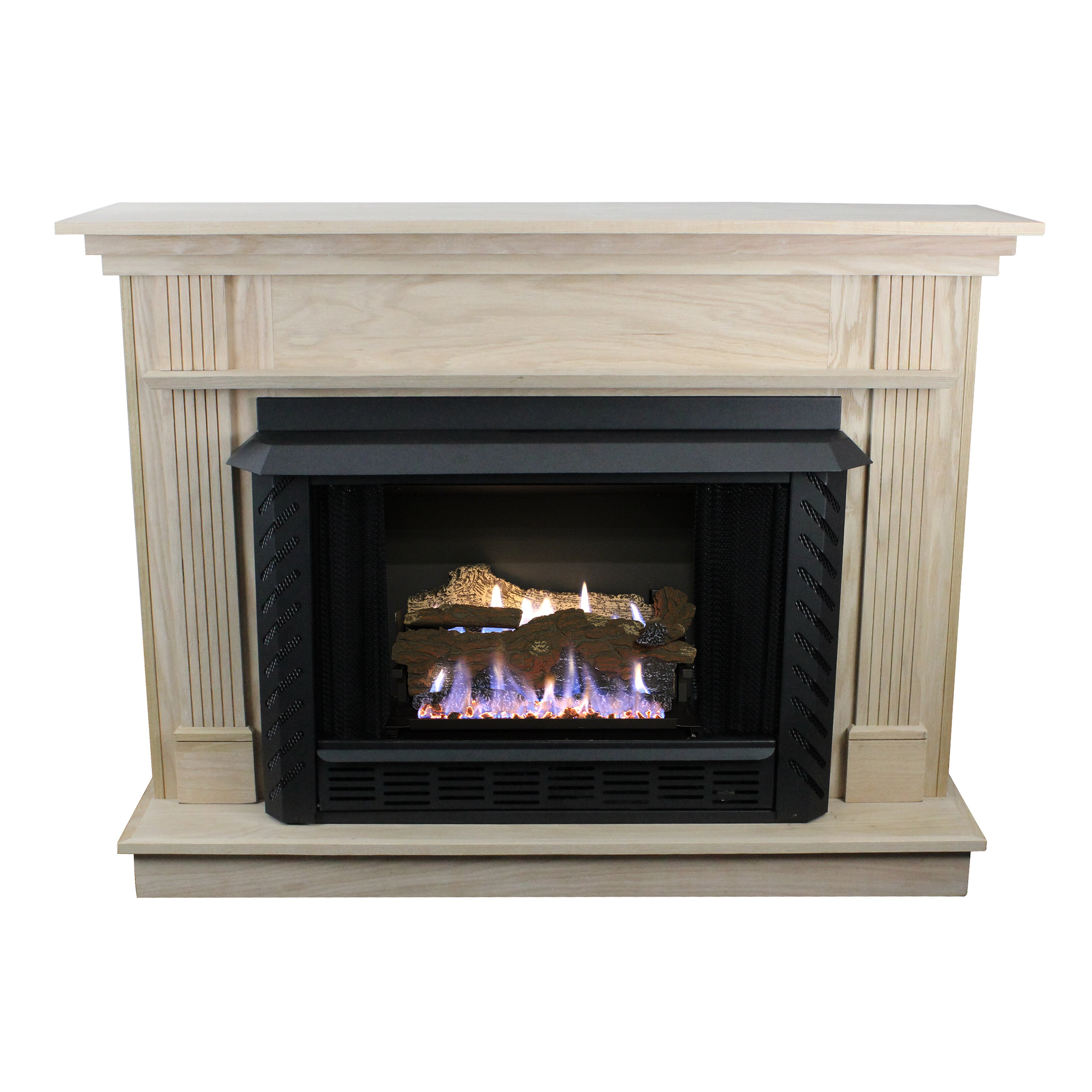 Vent free natural gas fireplace for Natural gas heating options