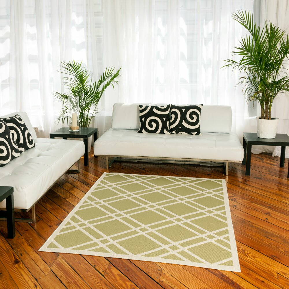 Maverick sage green indoor outdoor area rug wayfair for Indoor outdoor carpet green
