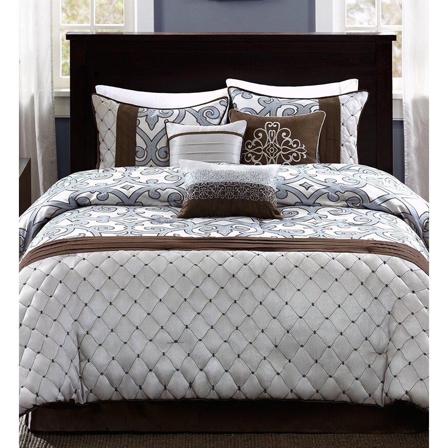 madison park crosby 7 piece comforter set reviews wayfair