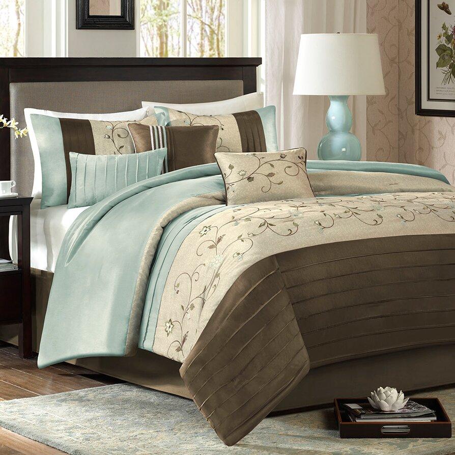 Madison Park Serene 7 Piece Comforter Set Amp Reviews Wayfair