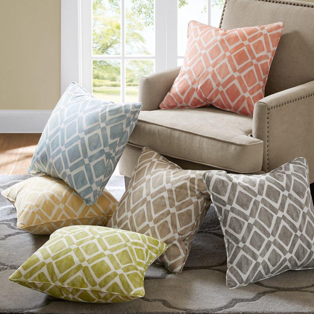 Madison Park Delray Diamond Printed Throw Pillow Amp Reviews
