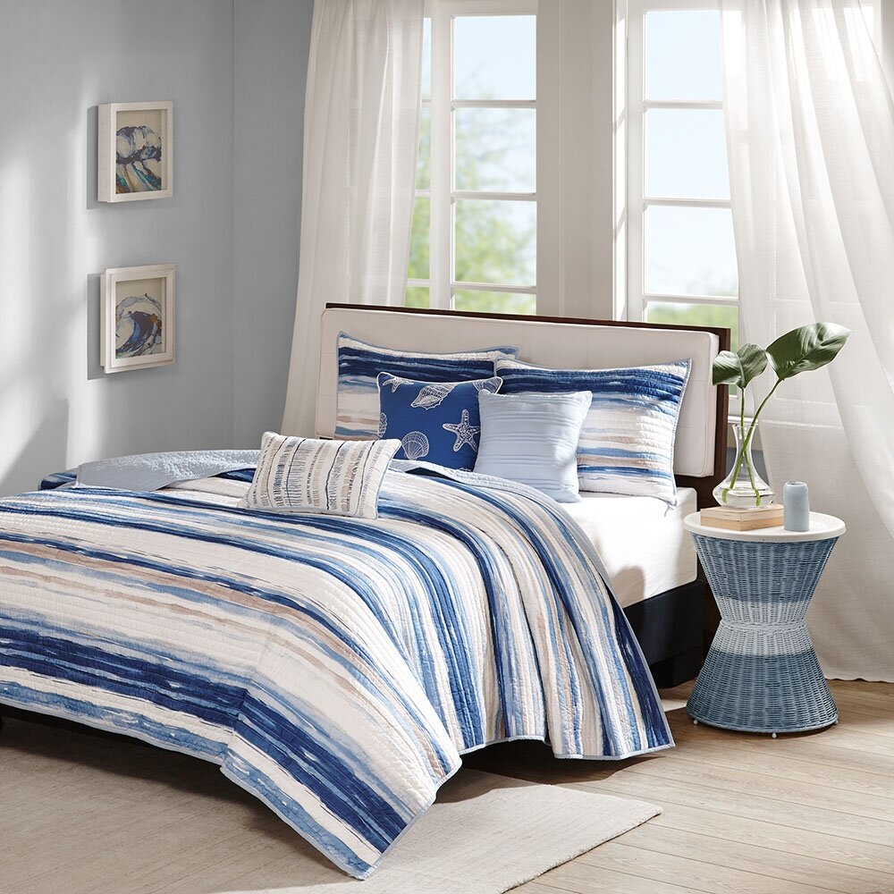 Madison Park Marina 6 Piece Quilted Coverlet Set Amp Reviews