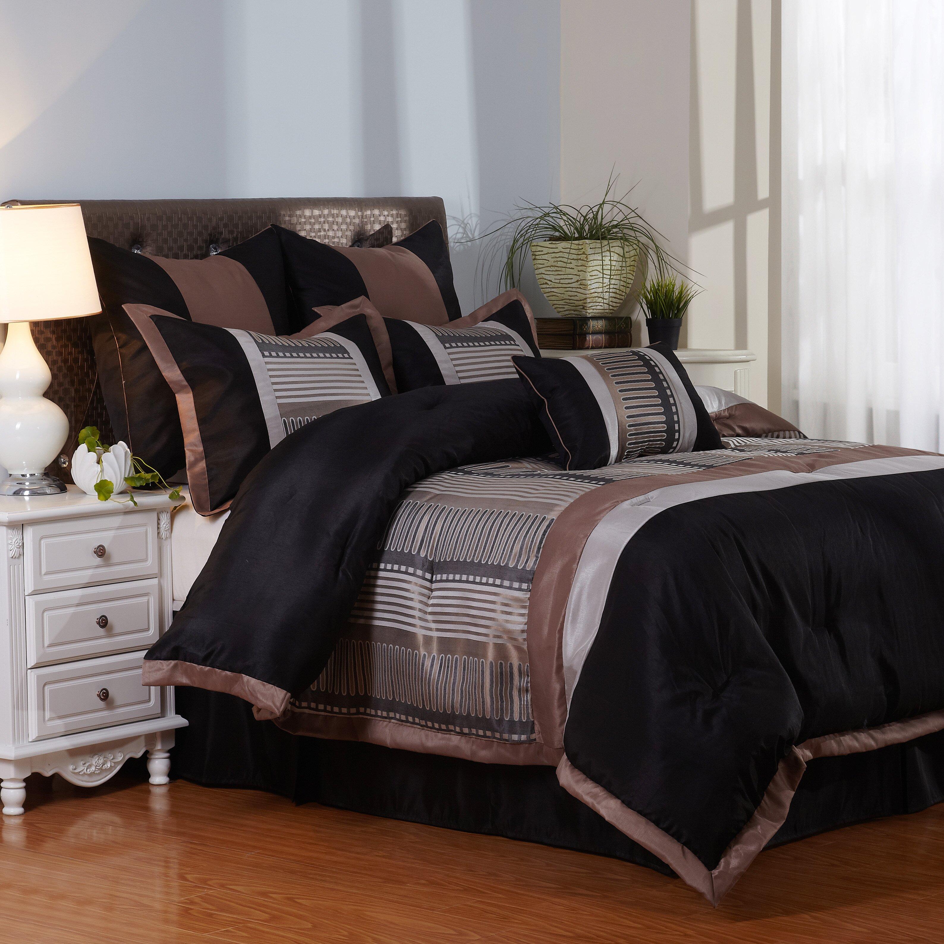nanshing america inc vance 7 piece bedding set reviews
