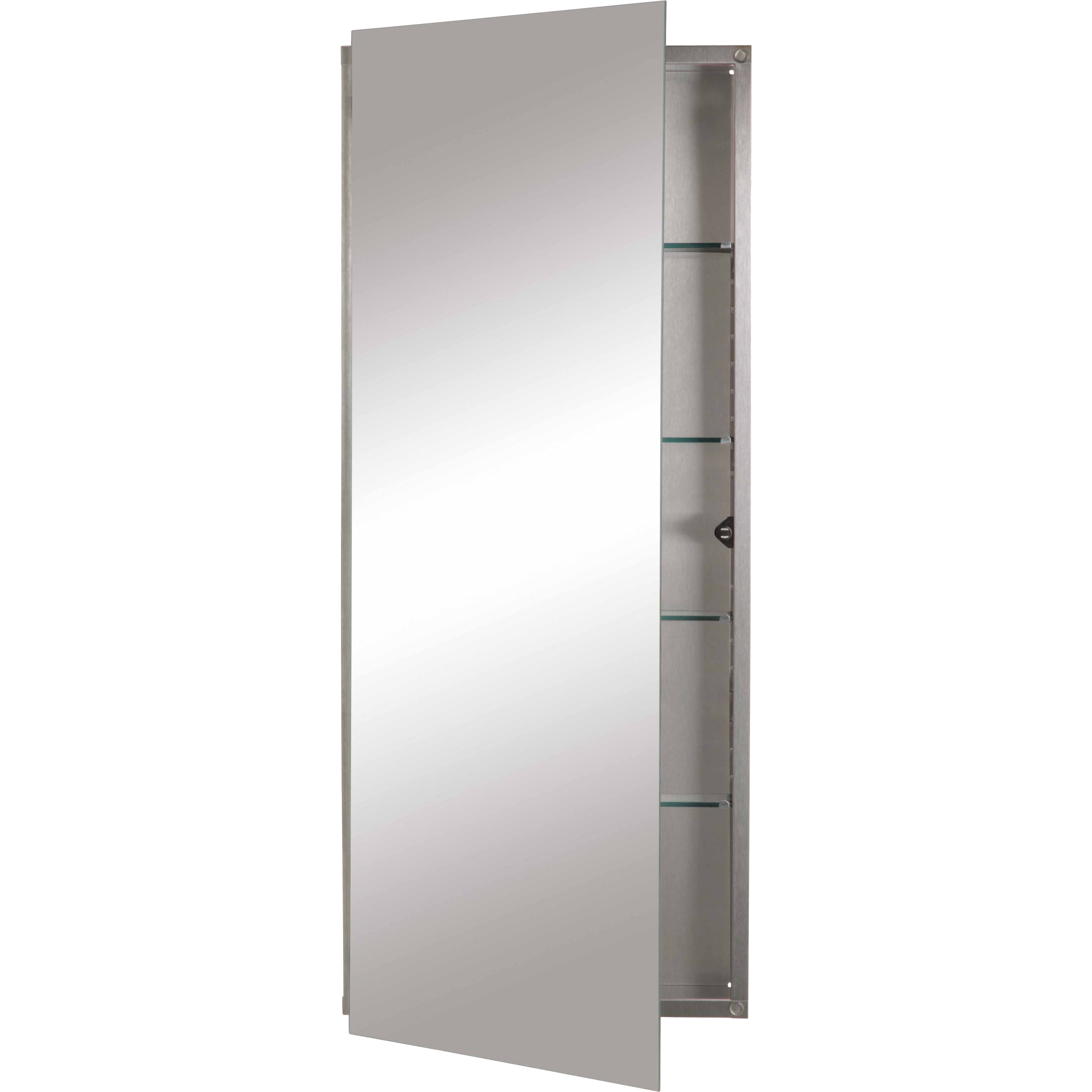Jensen 15 x 36 recessed medicine cabinet reviews wayfair for Stand alone medicine cabinet