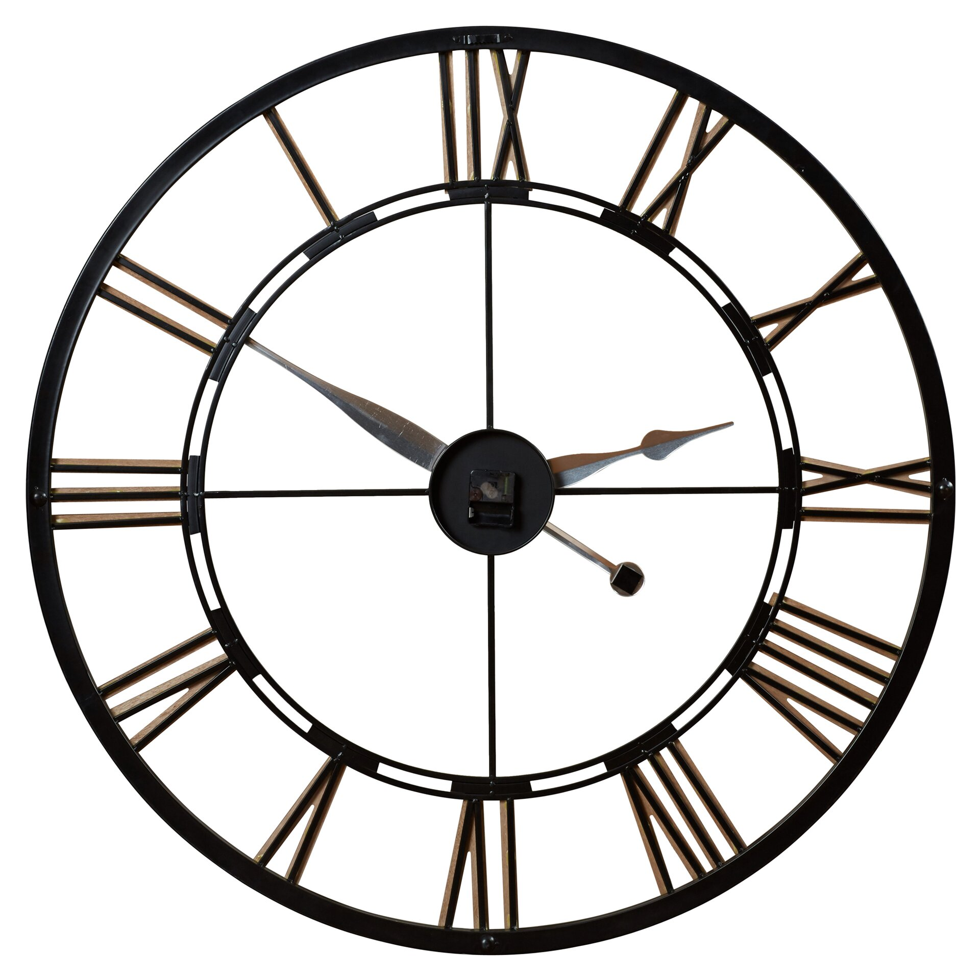 Rosalind wheeler oversized 45 quot cologne wall clock