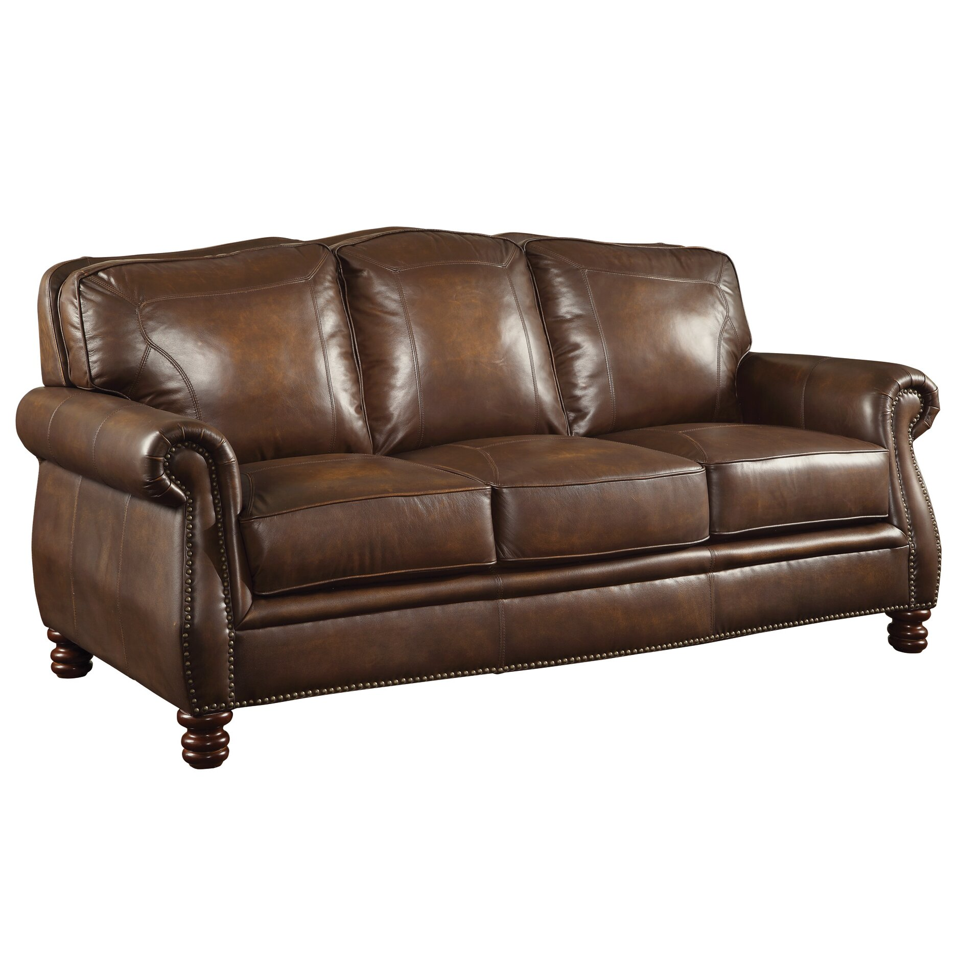 Reviews For Leather Sofas: Rosalind Wheeler Walborn Leather Sofa & Reviews