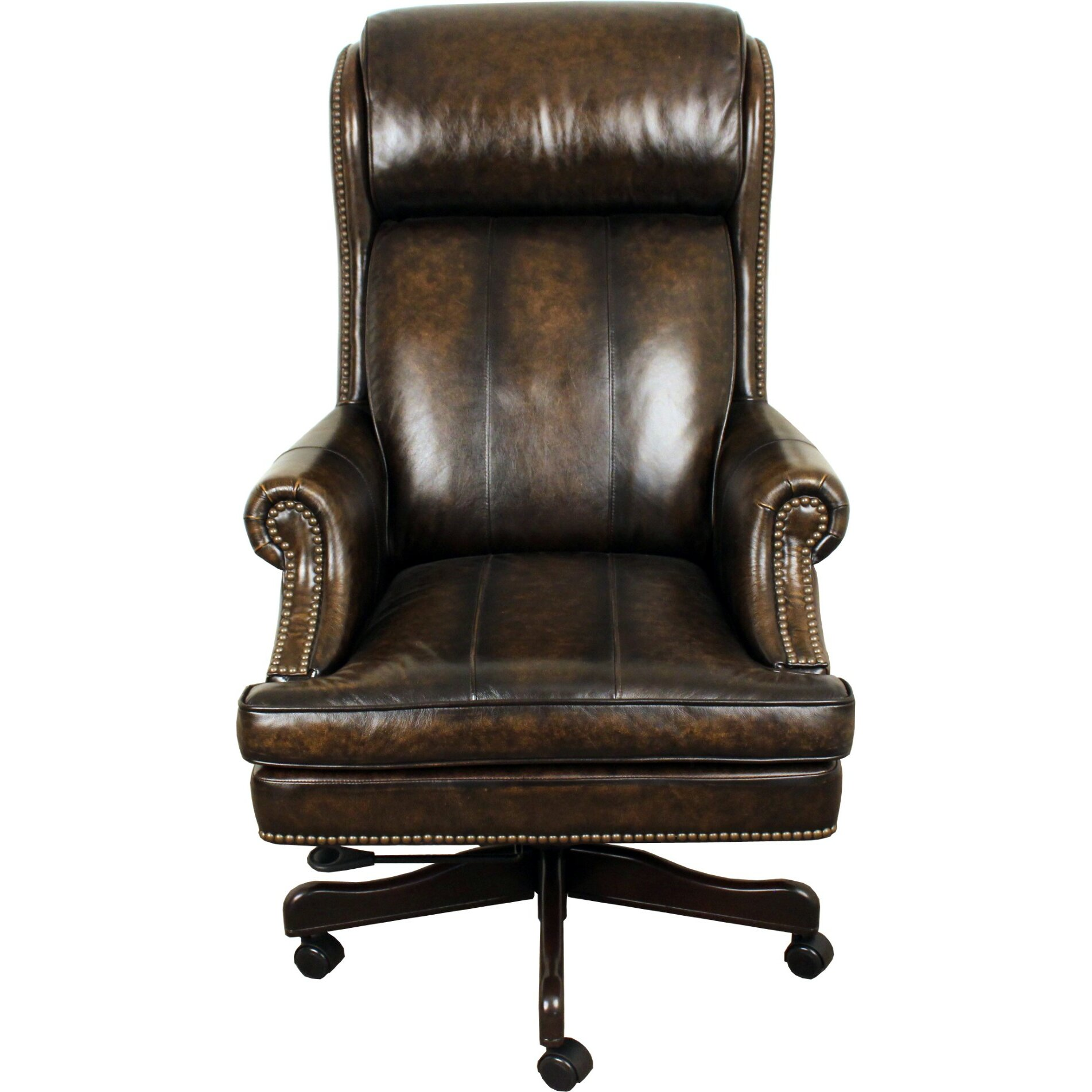 Lynton High Back Leather Executive Office Chair By Rosalind Wheeler