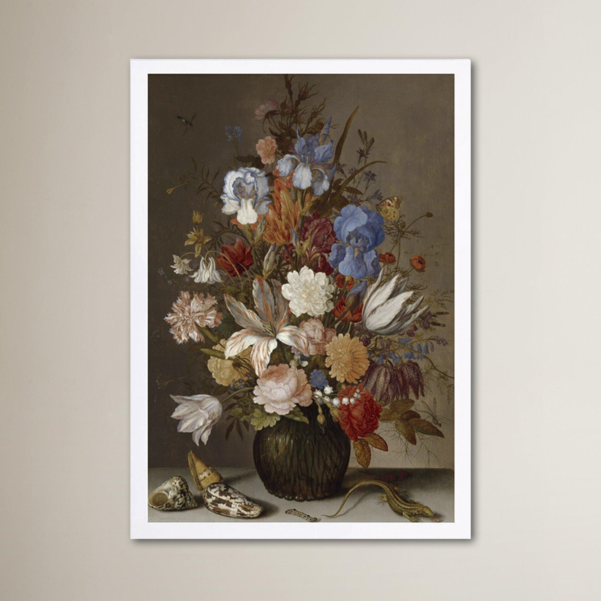 39 flower arrangement v 39 framed painting print for Wall decor arrangements