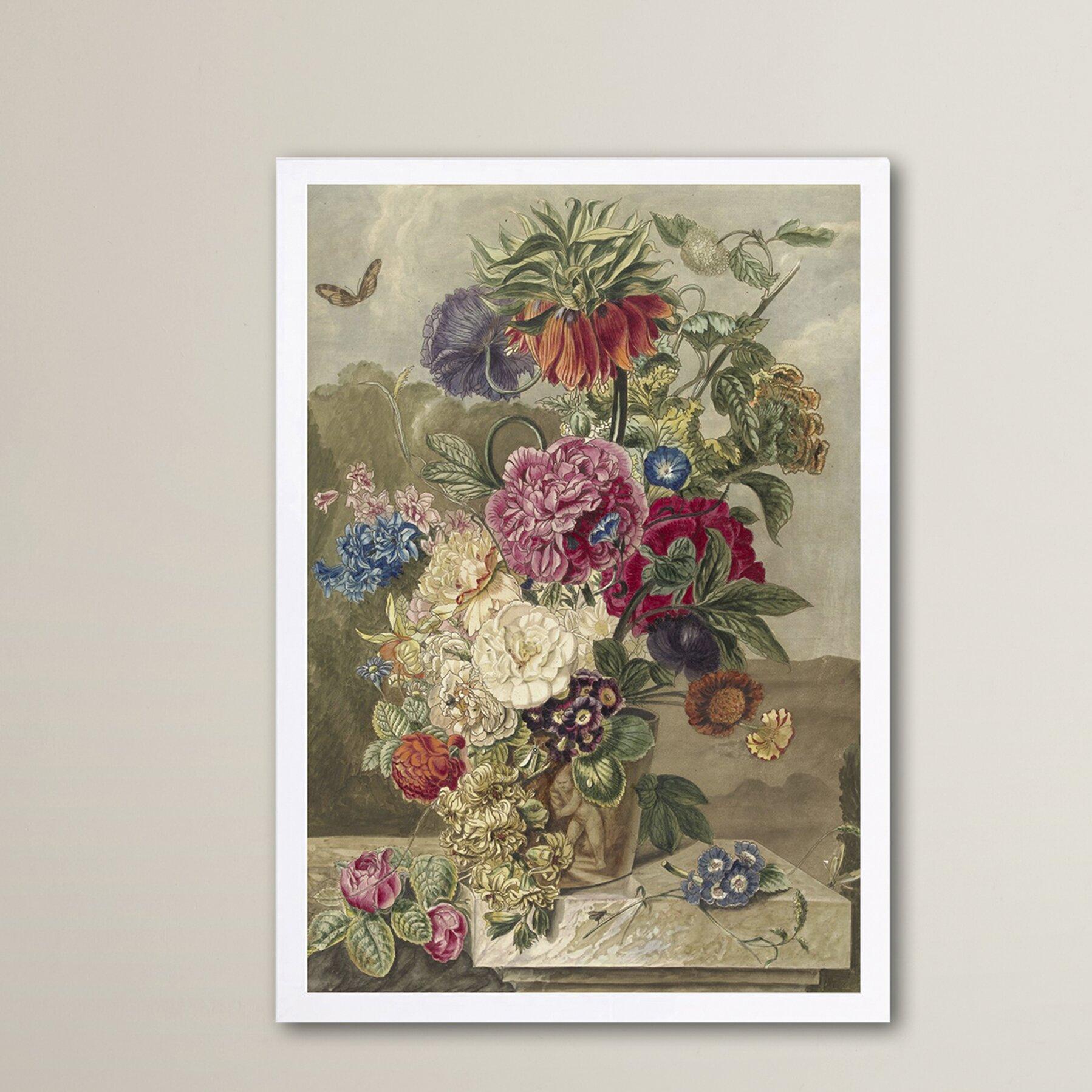 Flower arrangement xiii framed painting print wayfair for Wall decor arrangements