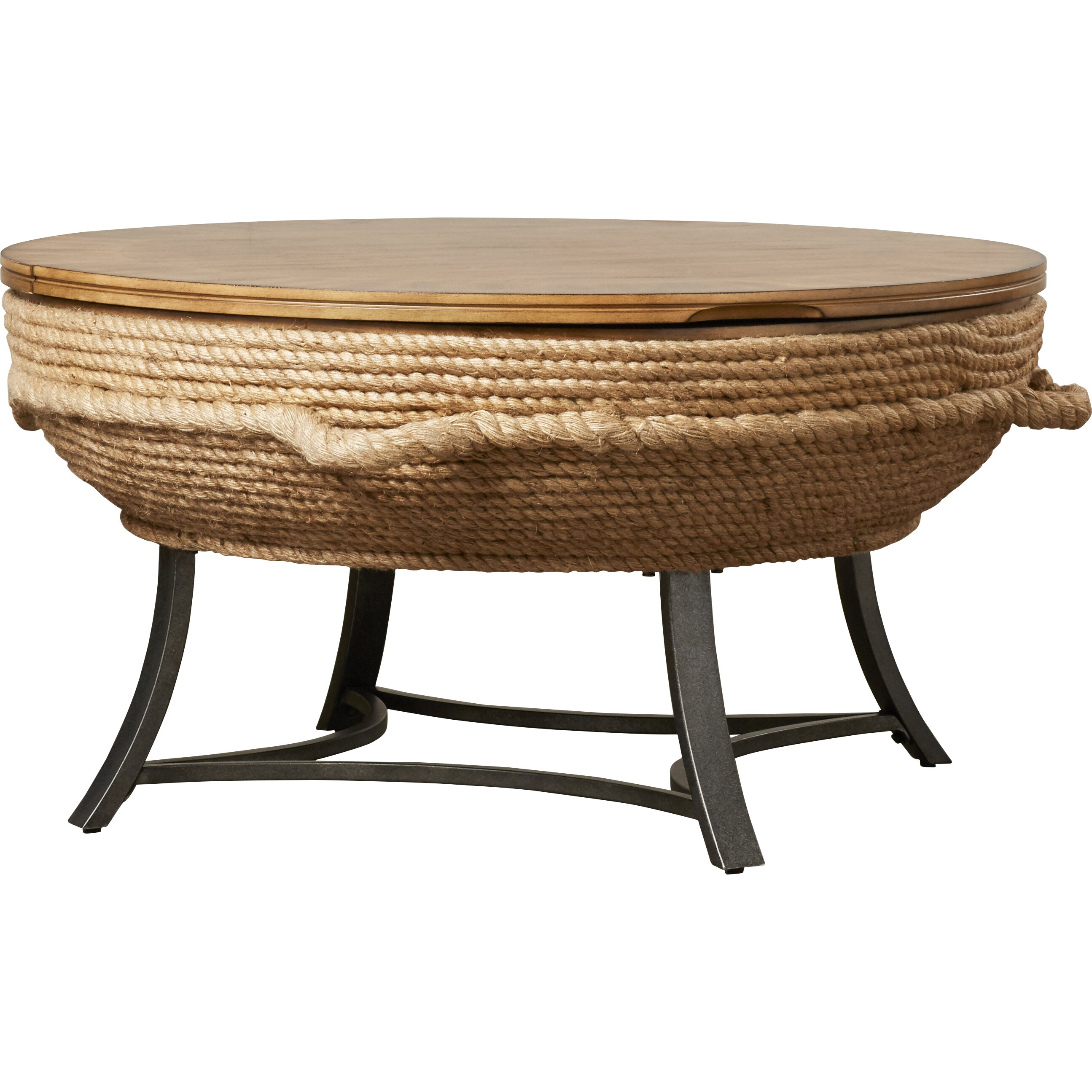 Dahlia Round Cocktail Table With Lift Top Wayfair