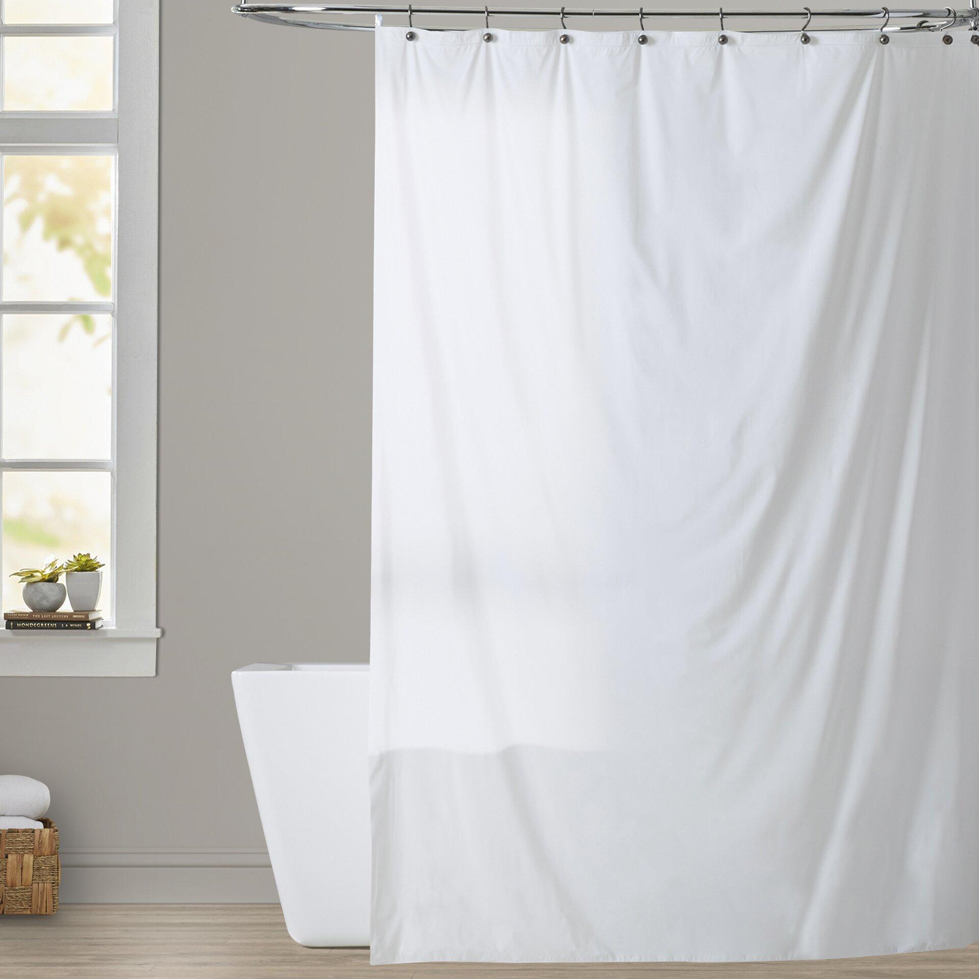 Symple Stuff Vinyl Shower Curtain Liner Amp Reviews Wayfair