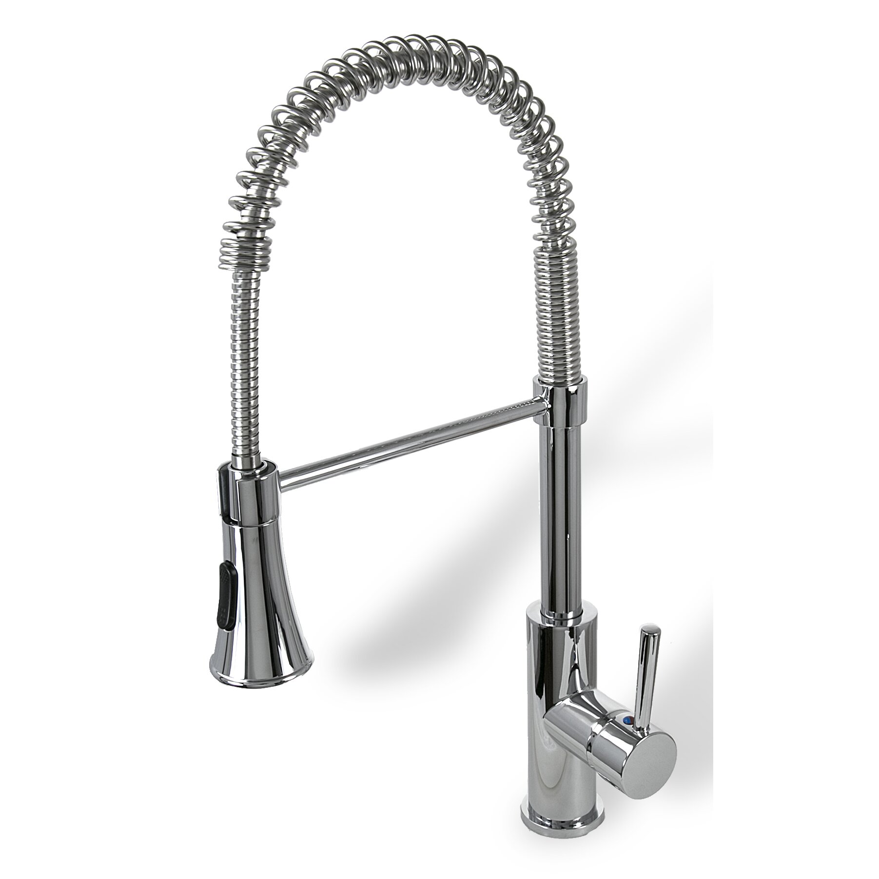 Single Handle Deck Mounted Standard Kitchen Sink Faucet With Pull Down Spray Wayfair