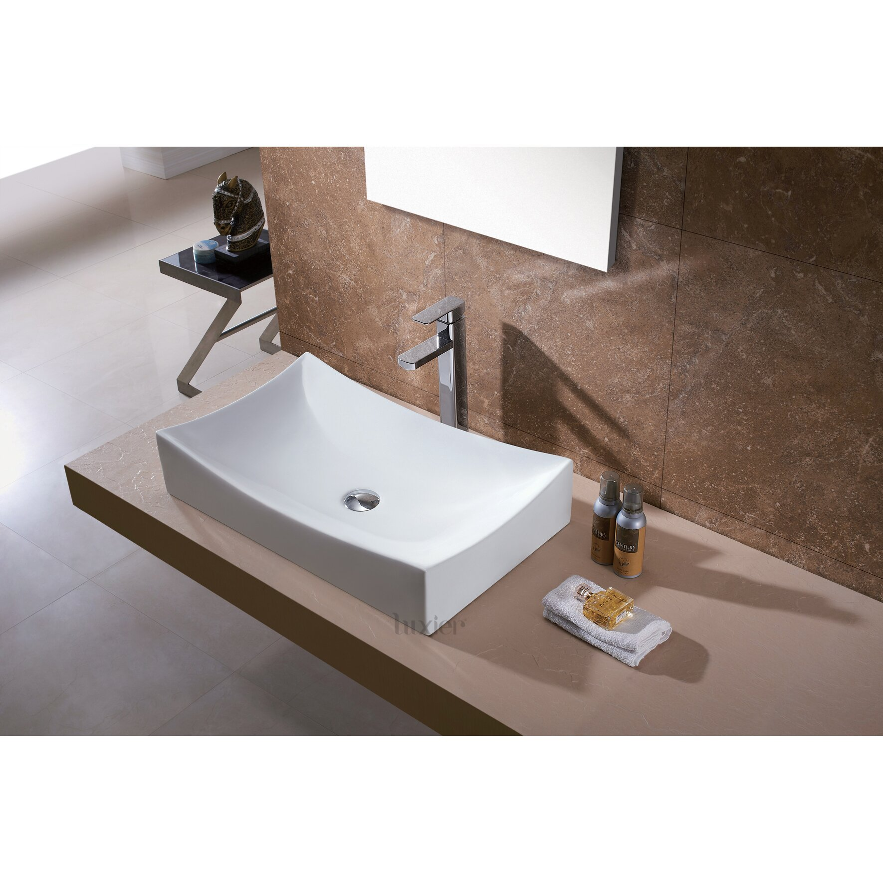 Luxier L-001 Bathroom Porcelain Ceramic Vessel Vanity Sink Art Basin
