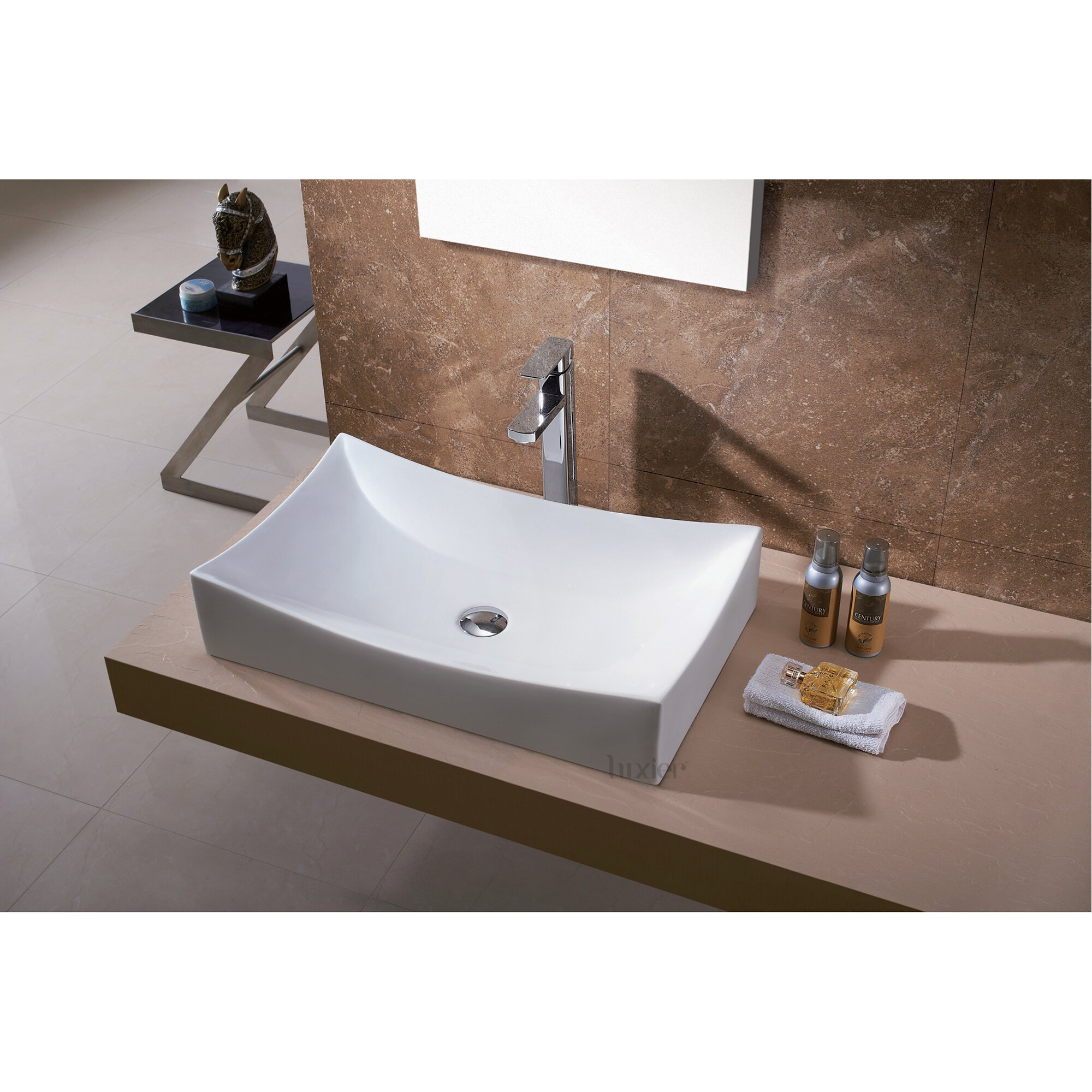Luxier L-001 Bathroom Porcelain Ceramic Vessel Vanity Sink Art Basin
