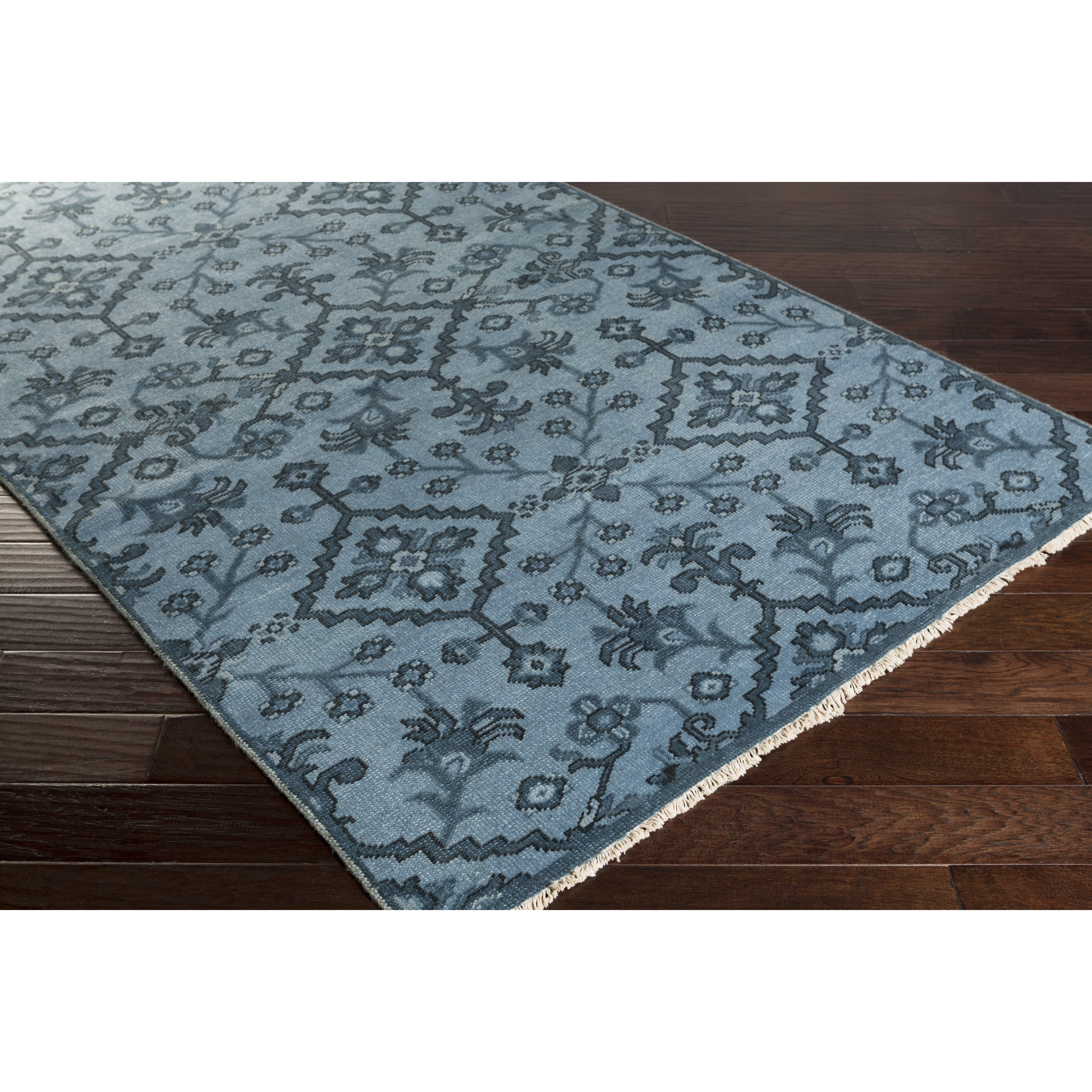 Shangrila Hand-Knotted Blue Area Rug