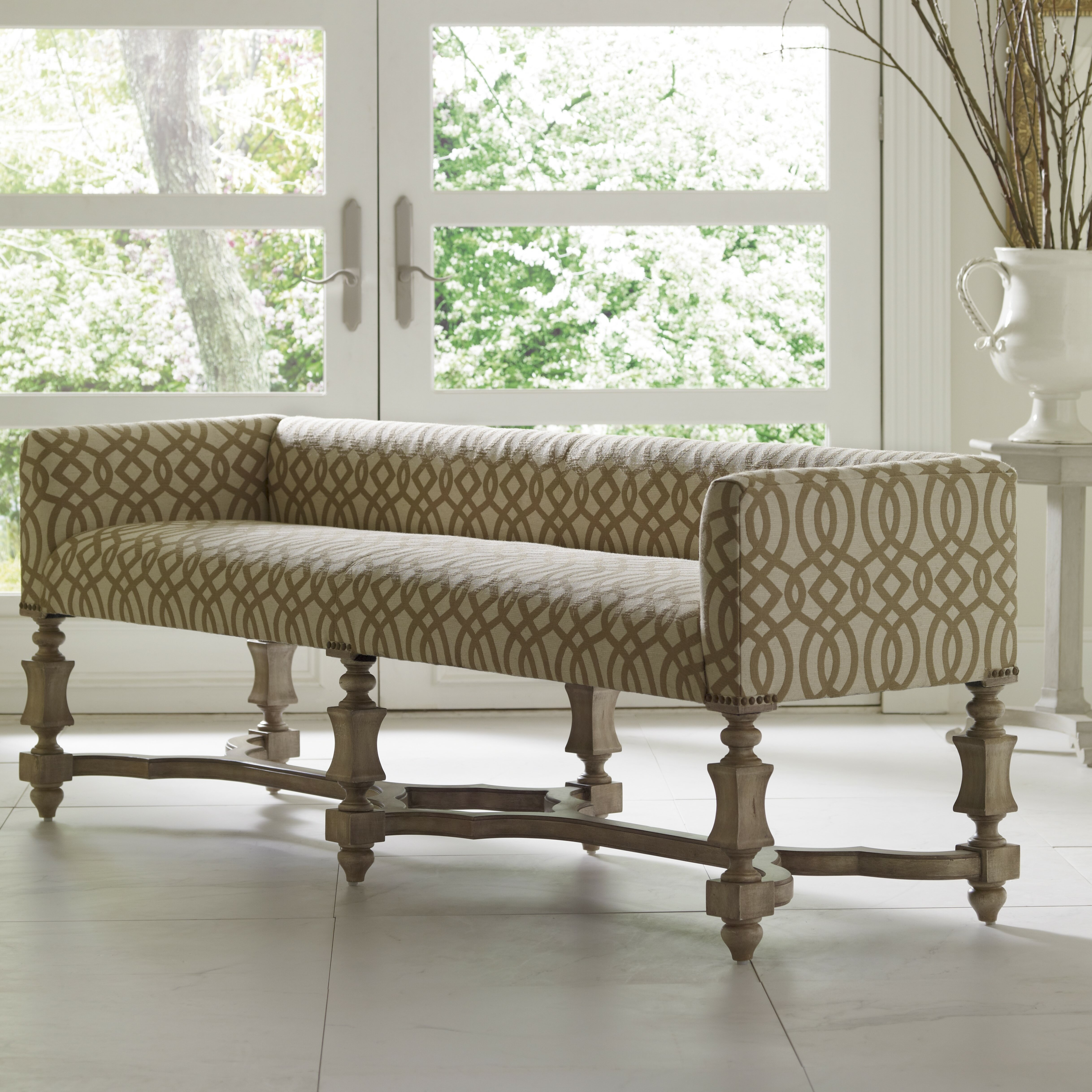 Foyer Leather Bench : Charlemagne leather entryway bench joss main