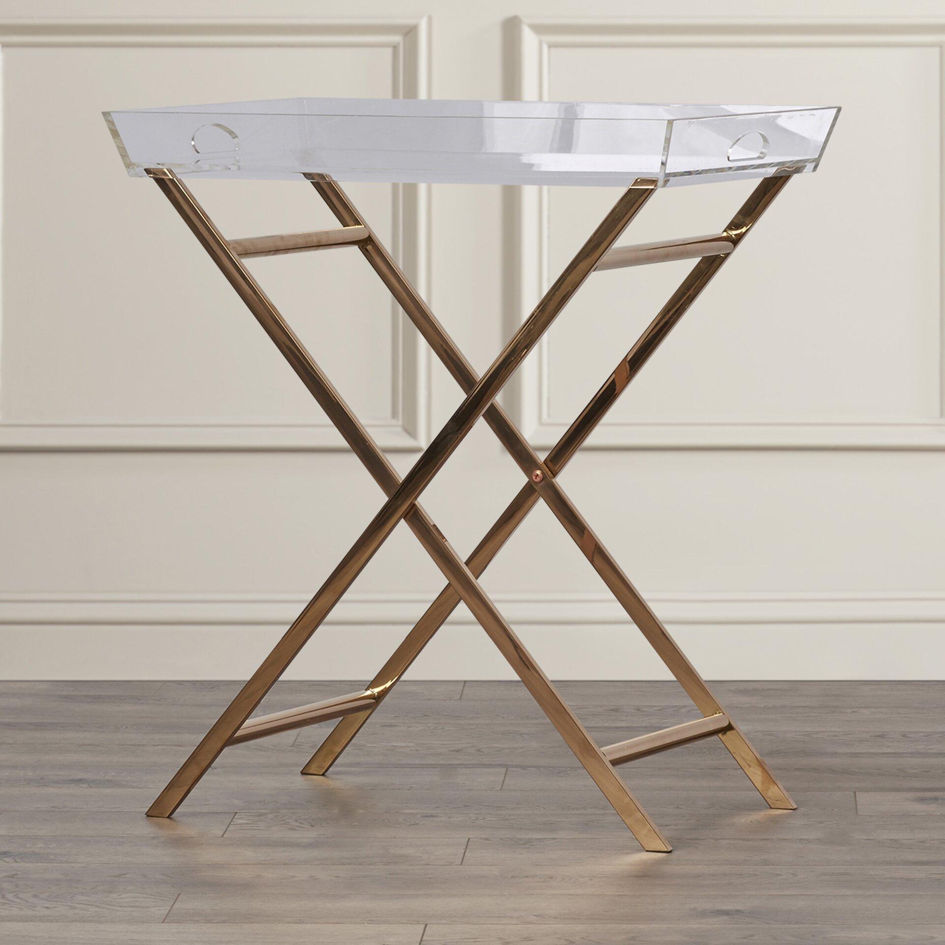 Fort Pierce Clinton Acrylic Tray Table Wayfair