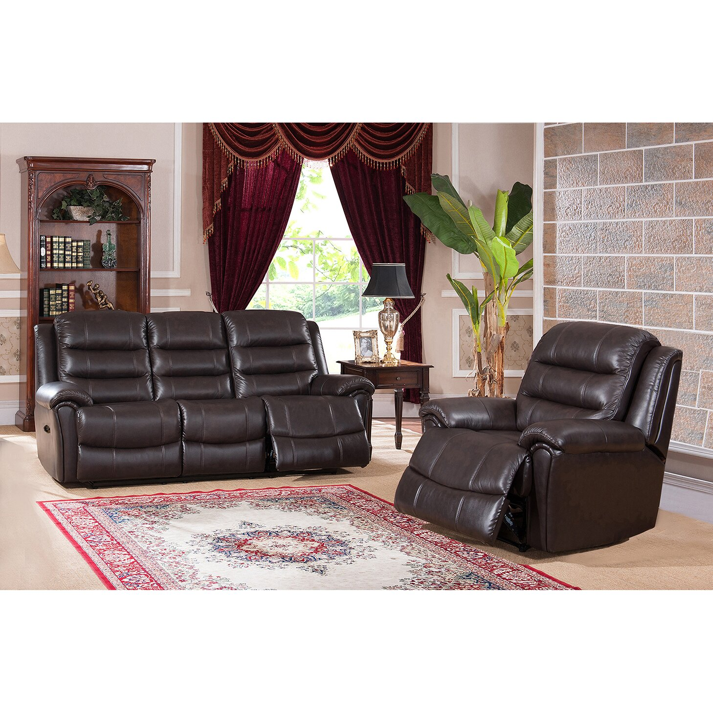 astoria 2 piece leather living room set wayfair