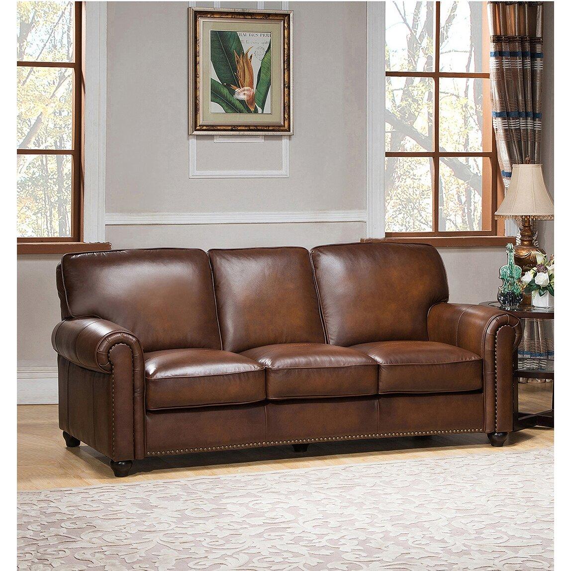 Aspen Leather Sofa Wayfair