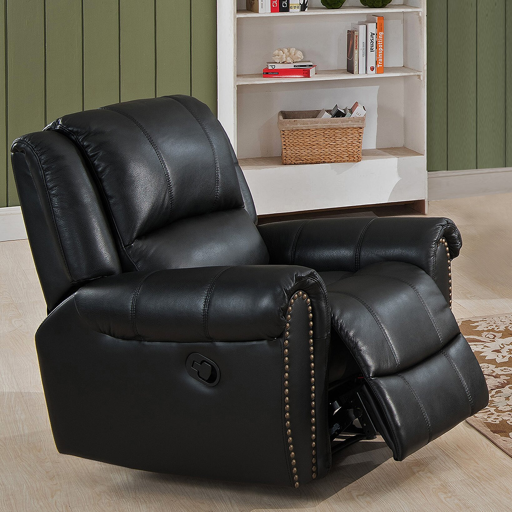 houston 3 piece leather recliner living room set wayfair