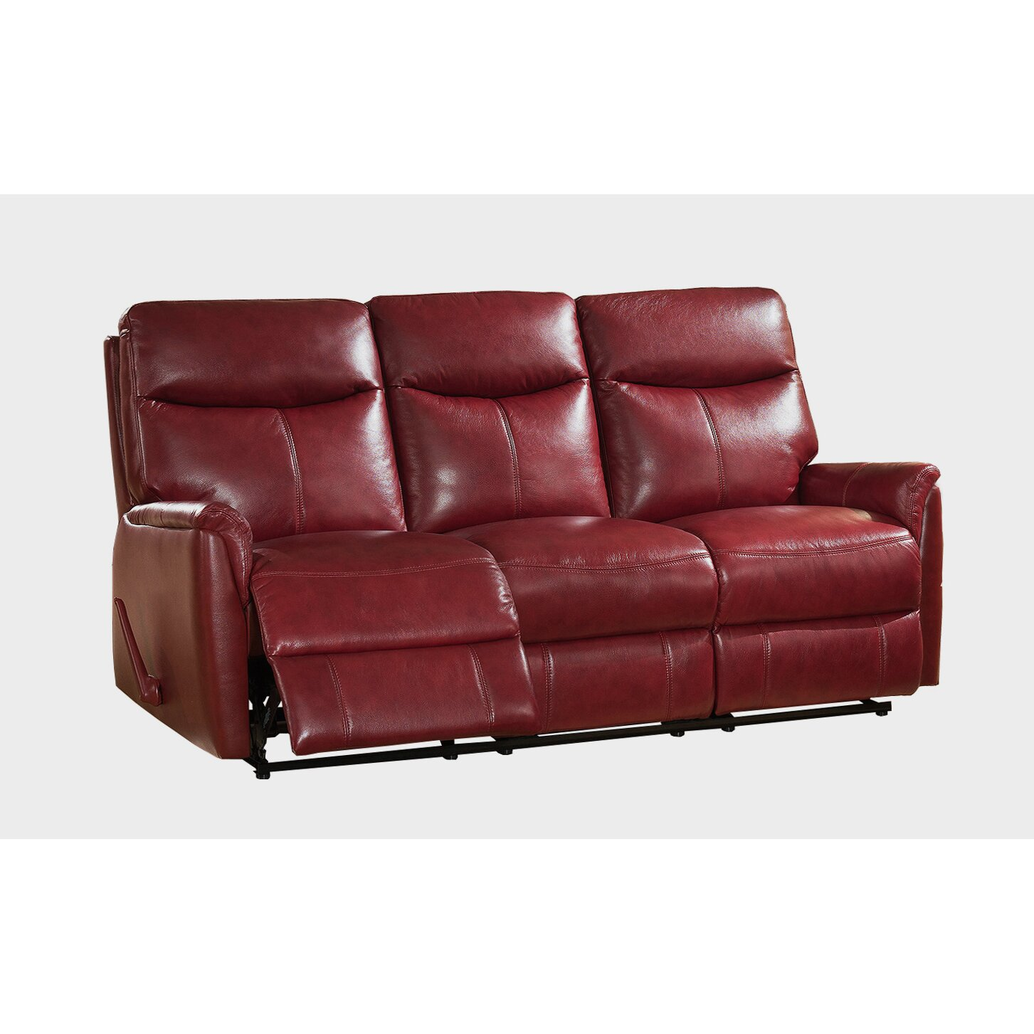 Napa Top Grain Lay Flat Leather Reclining Sofa Wayfair Ca