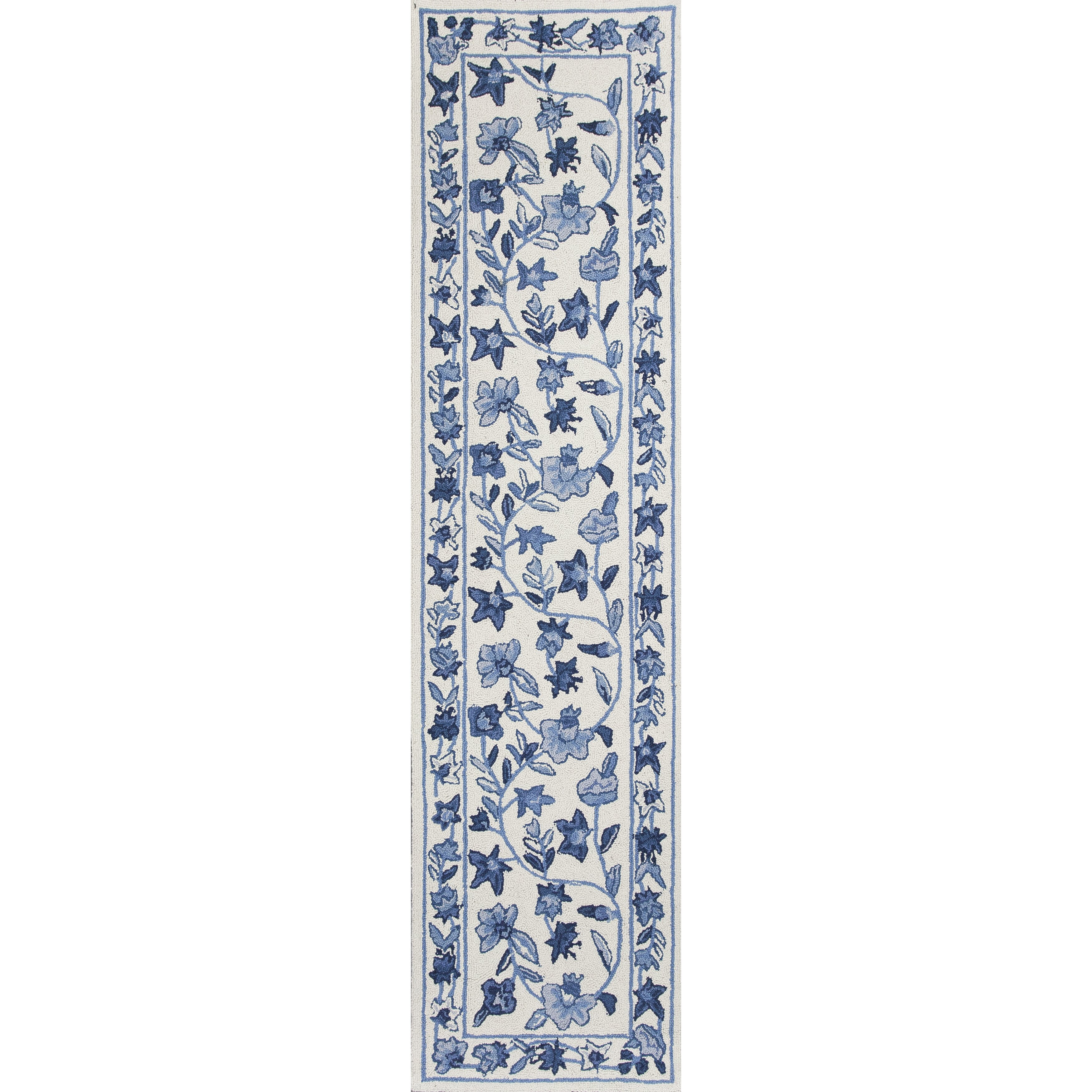 Kas Rugs Colonial Ivory Blue Floral Area Rug Amp Reviews