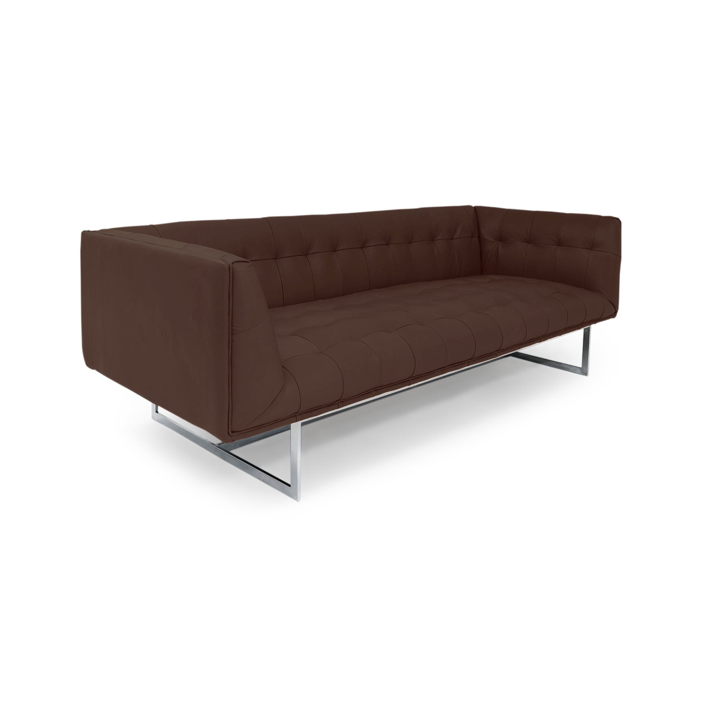 kardiel edward mid century modern leather sofa reviews wayfair
