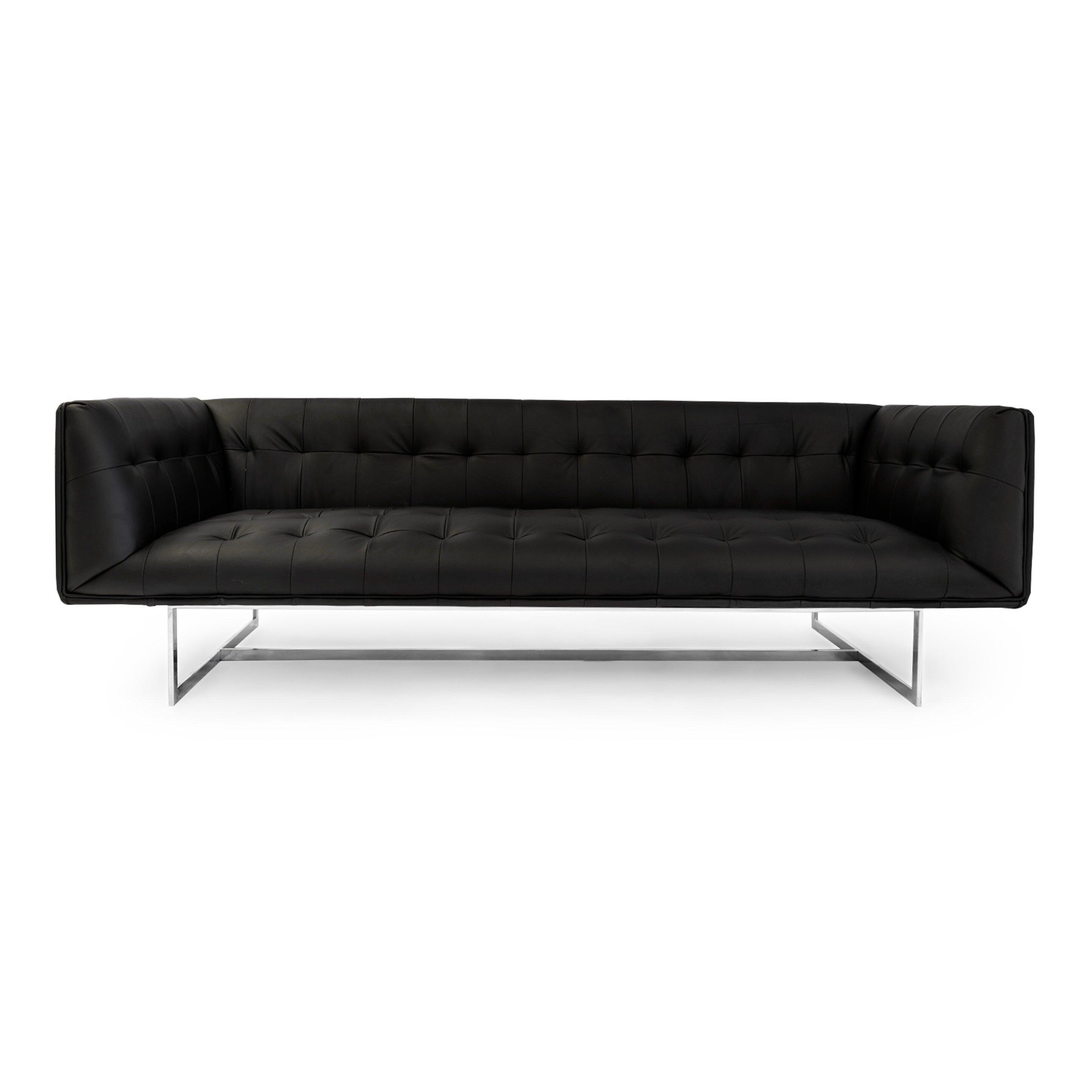 Kardiel Edward Mid Century Modern Leather Sofa & Reviews ...