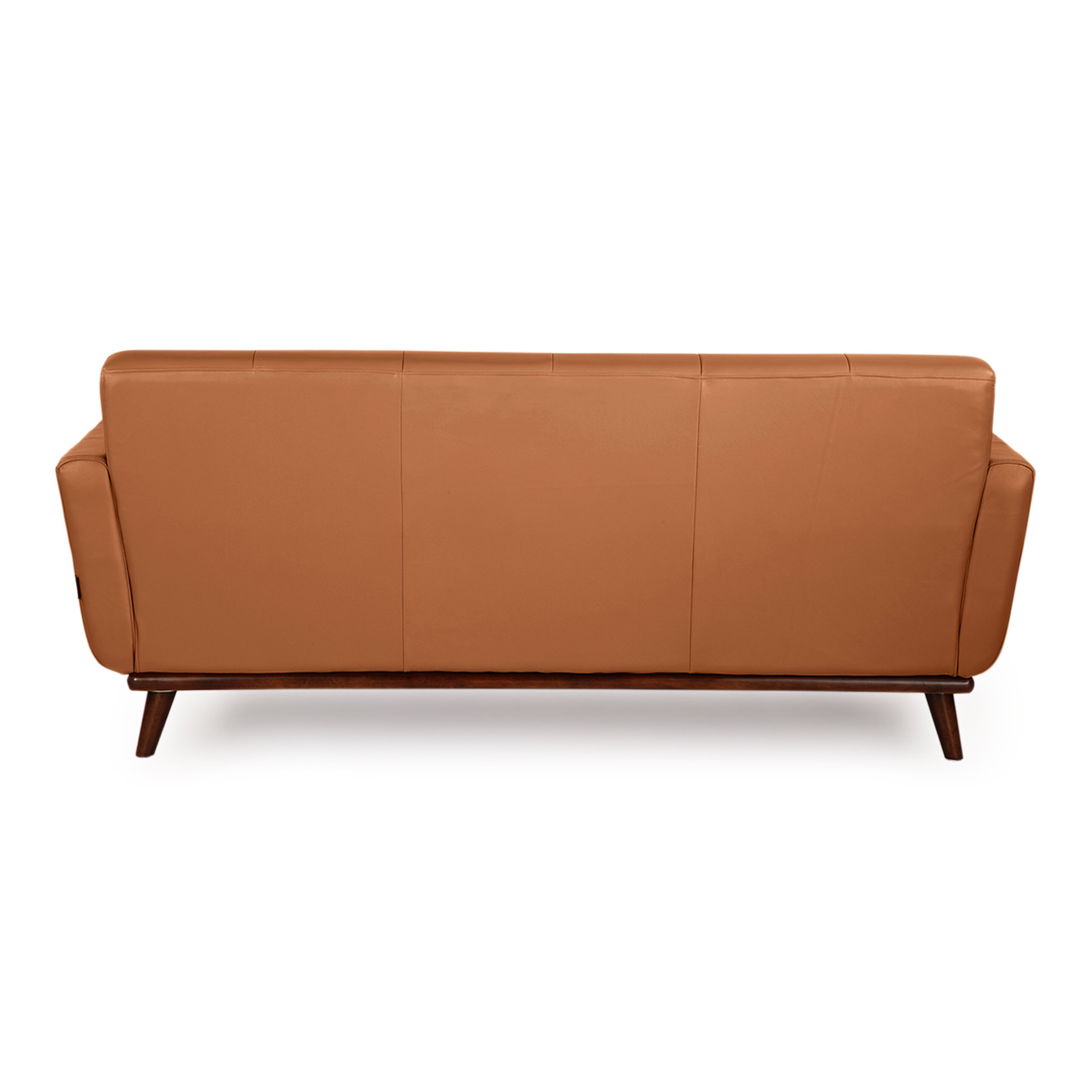 Jackie mid century modern vintage leather loveseat for Mid century modern toy box