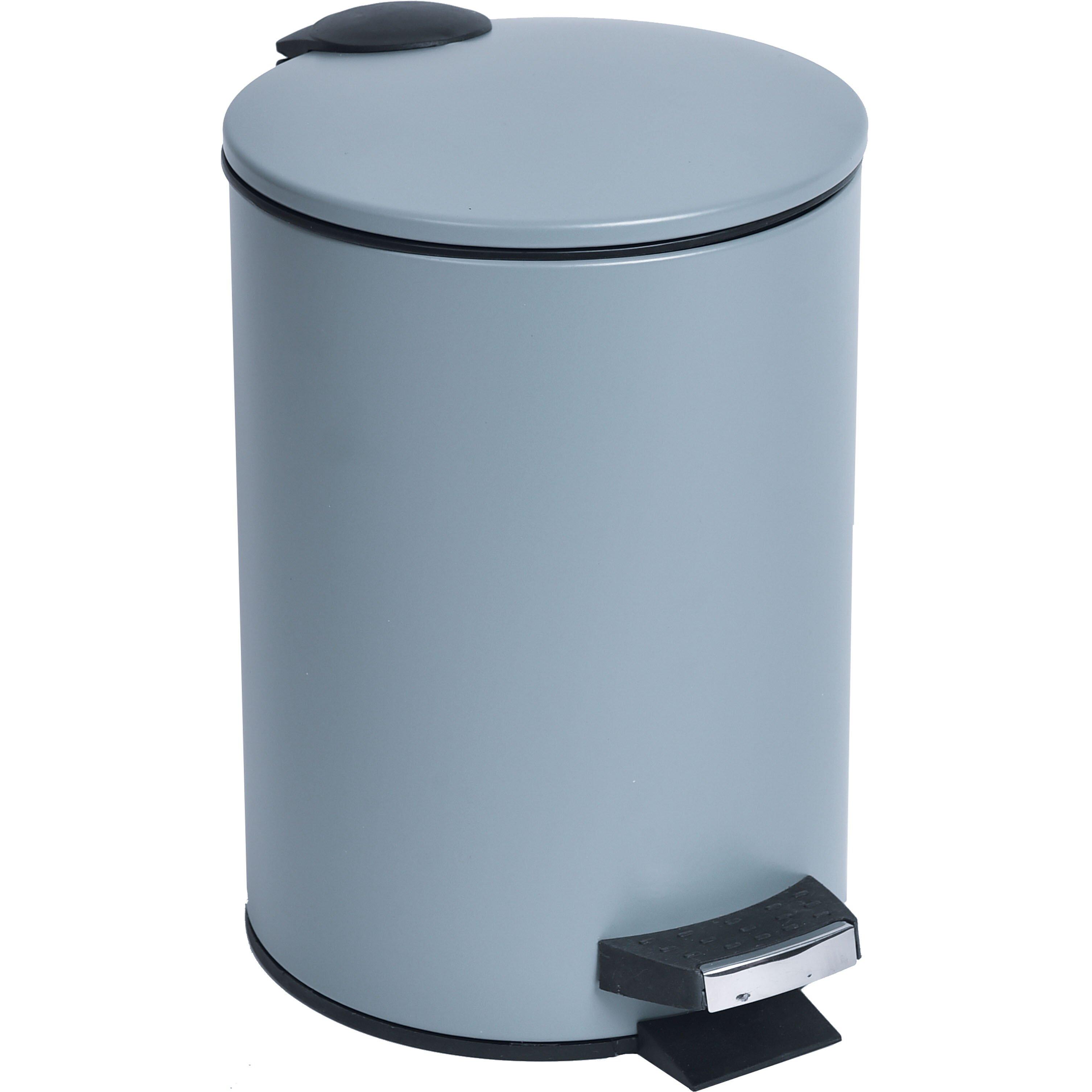 0 8 Gal Round Metal Toilet Step Trash Can Wayfair
