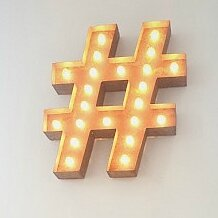 Hashtag wall decor wayfair for Decor hashtags
