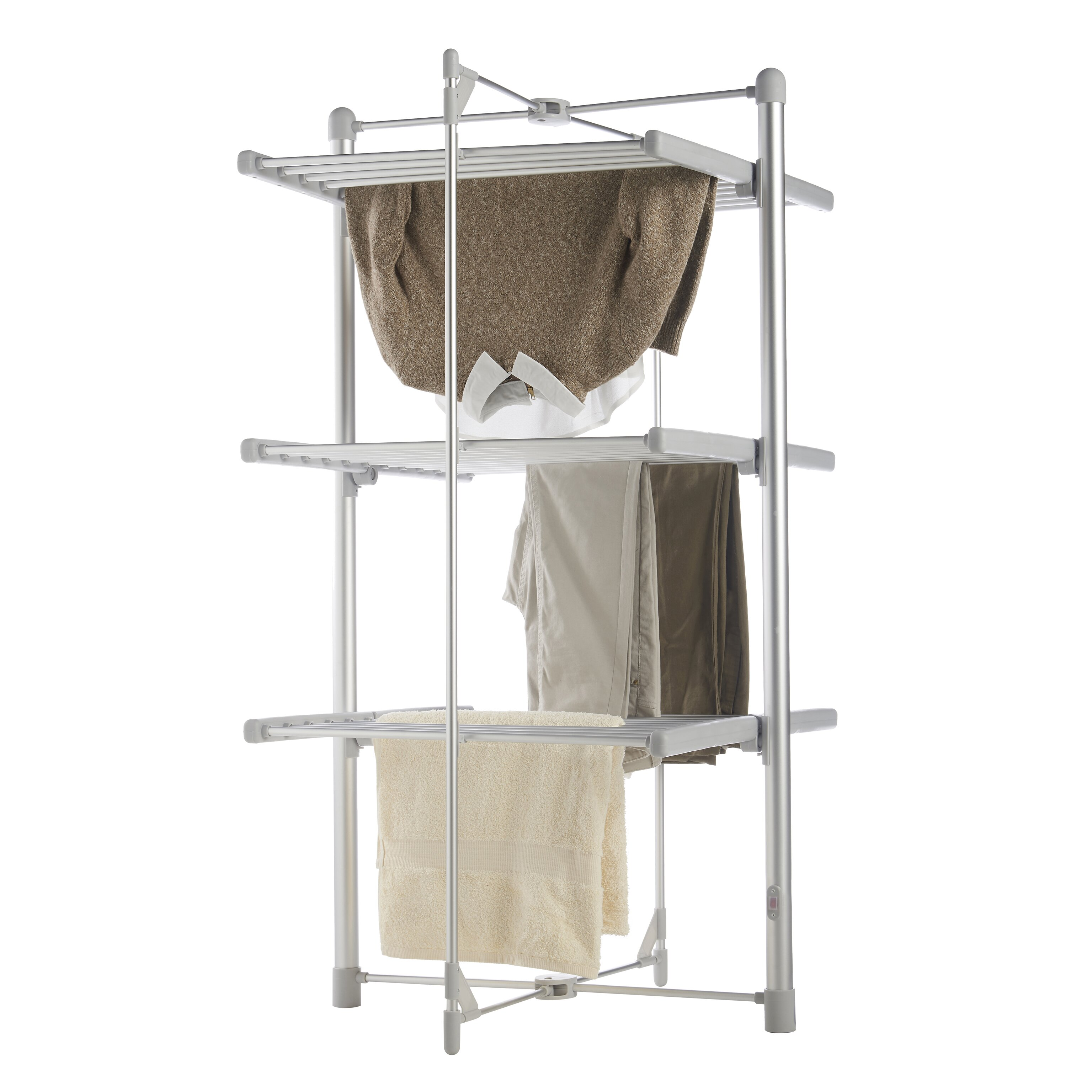 heated clothes drying rack wayfair. Black Bedroom Furniture Sets. Home Design Ideas