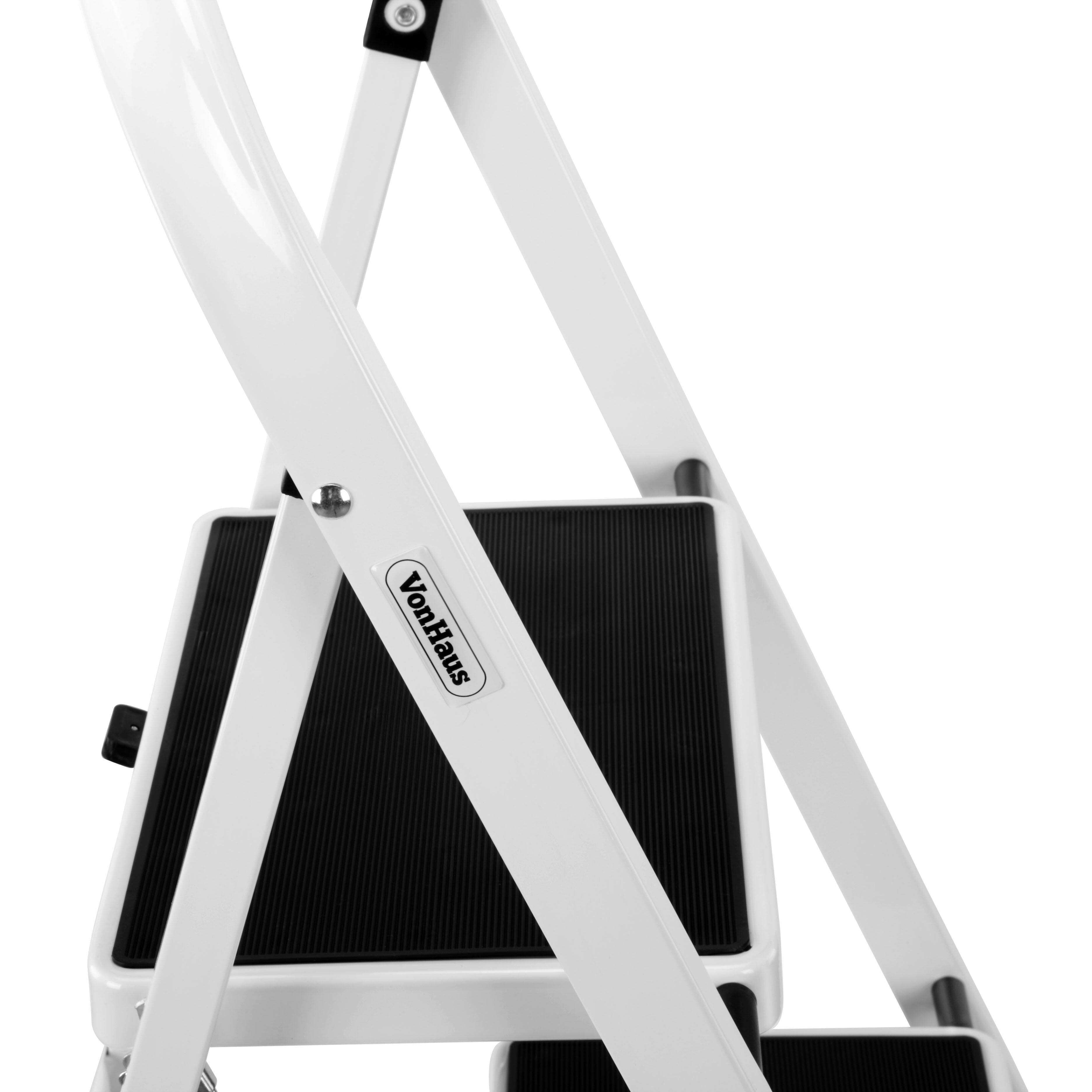 4 Step Steel Step Stool 300 Lb Load Capacity Wayfair Ca