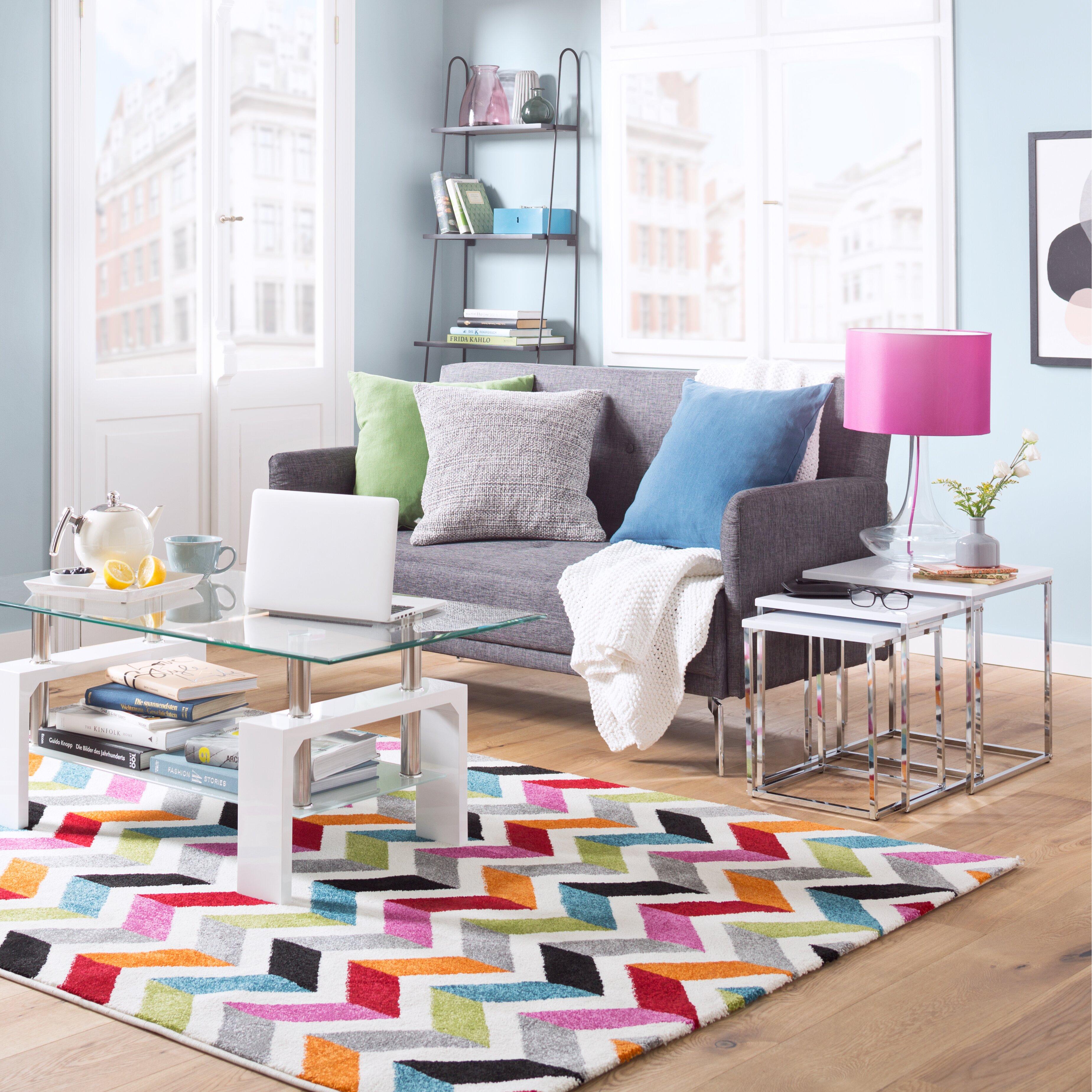 Teppich Caitlyn in Mehrfarbig von {manufacturer} , Wayfairde