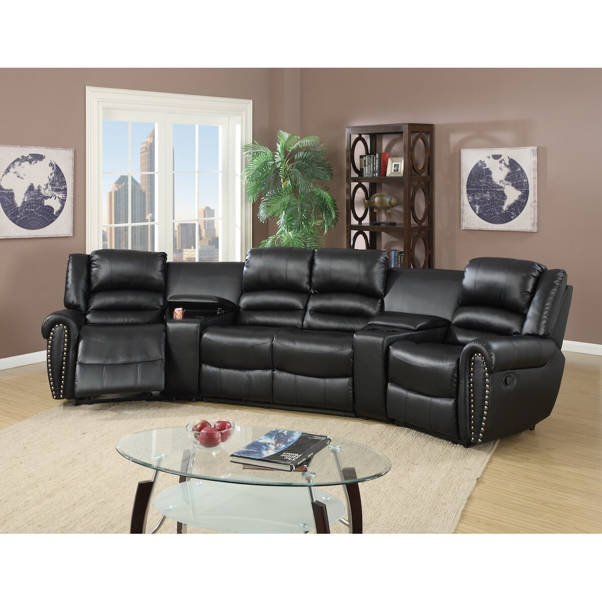 Sofa Bed Home Theater: Infini Furnishings Home Theater Sectional & Reviews