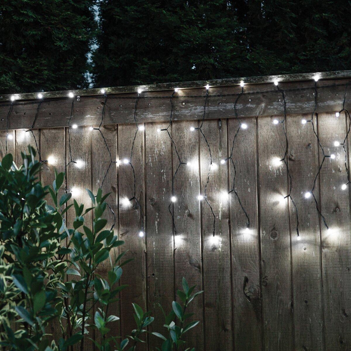 Droplite 100 Solar Curtain String Lights Wayfair