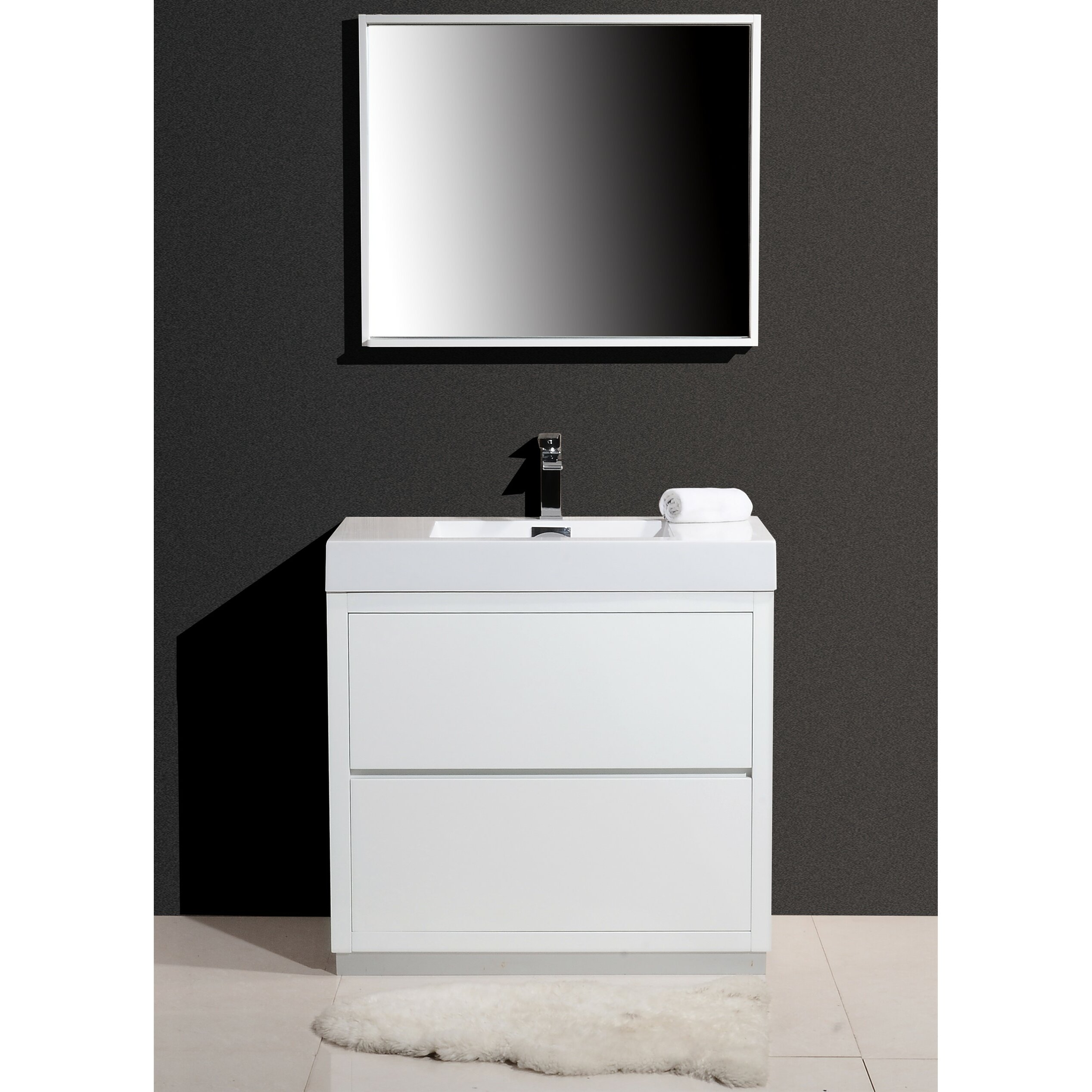bliss 36 single free standing modern bathroom vanity set wayfair. Black Bedroom Furniture Sets. Home Design Ideas