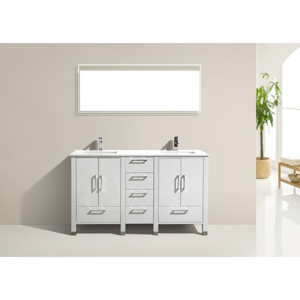 Kube Bath Anziano 60quot; Double Bathroom Vanity Set