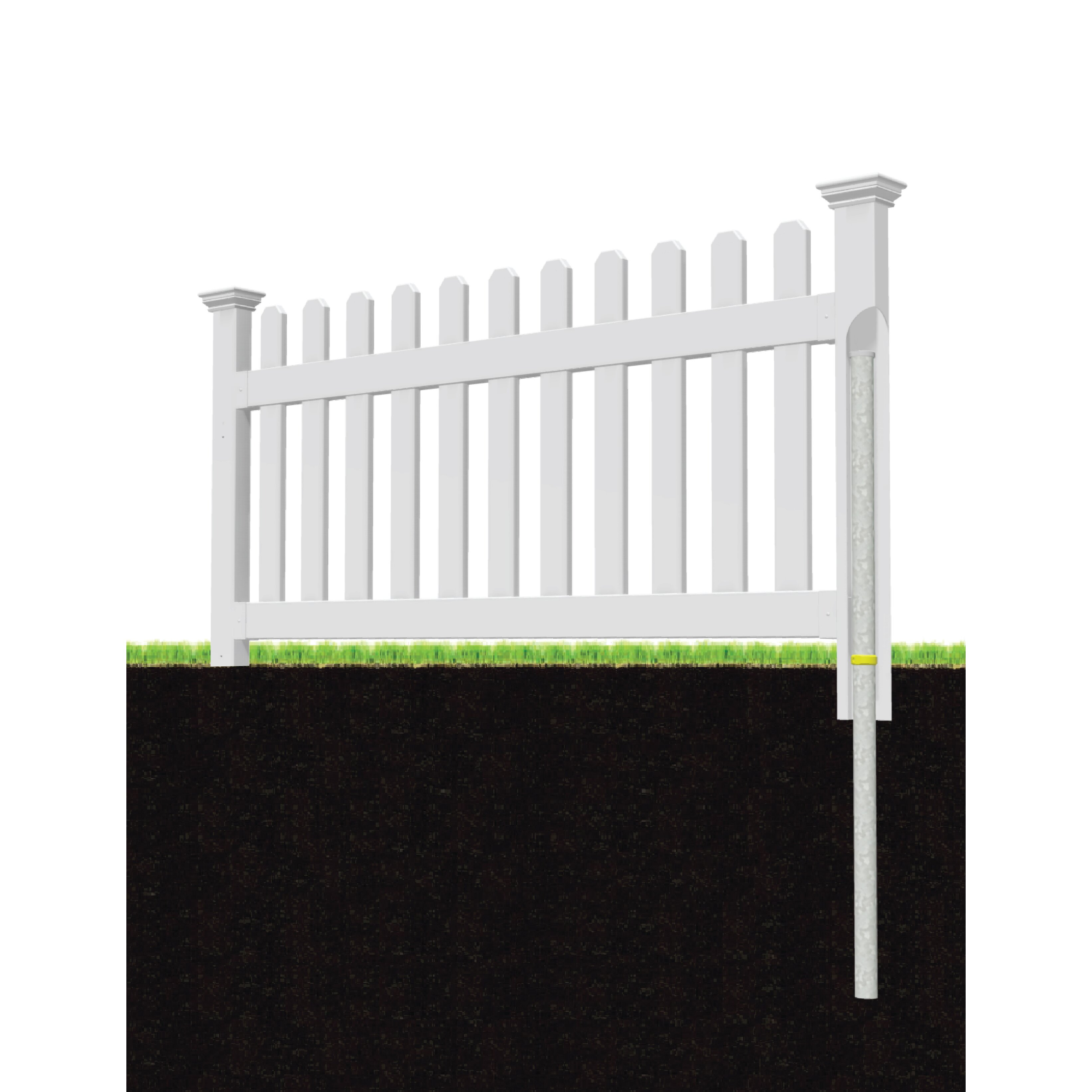 Zippity Outdoor Products Newport 3 X 5 9 Picket Yard