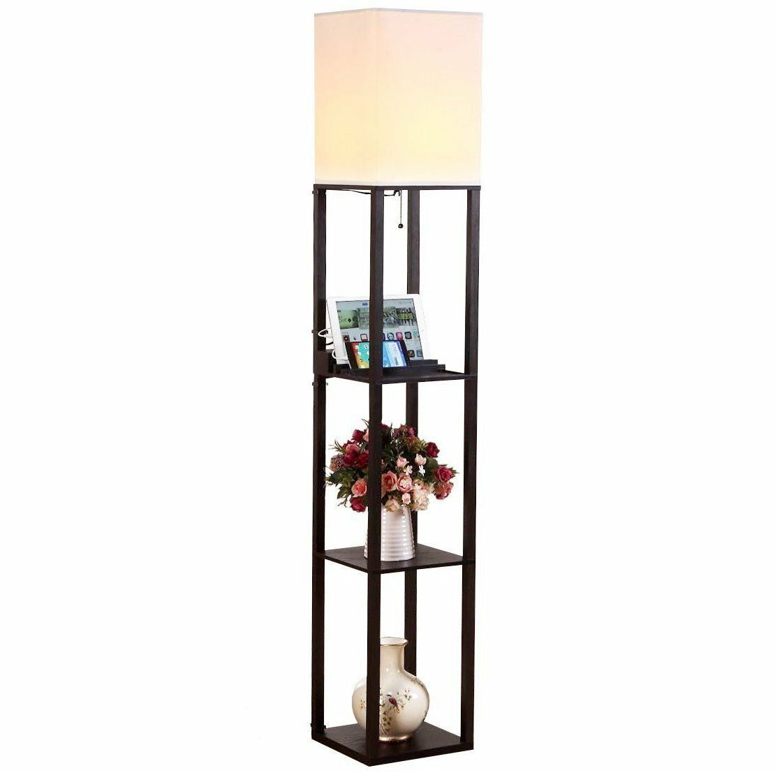 Maxwell USB Shelf 63 Floor Lamp