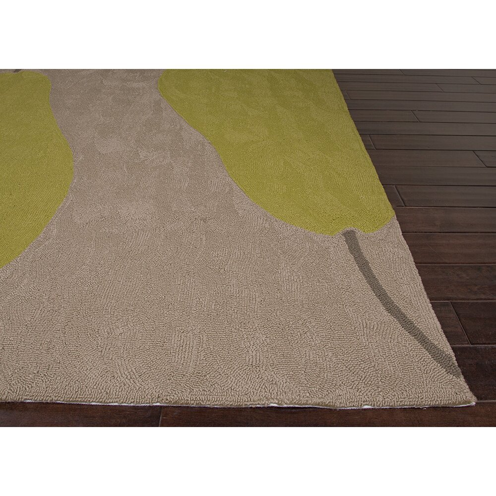 Hand hooked beige green indoor outdoor area rug wayfair for Indoor outdoor carpet green