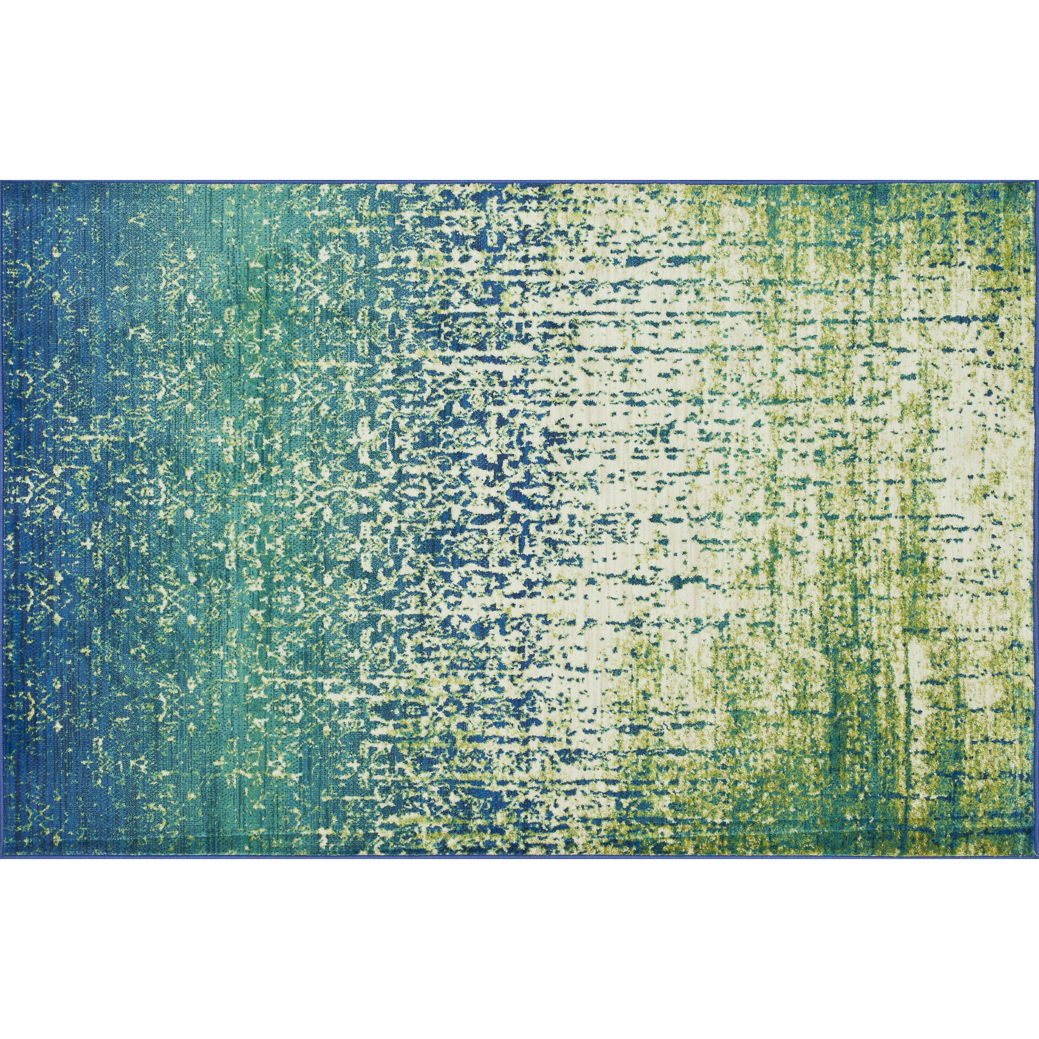 Regina Blue Green Area Rug Wayfair