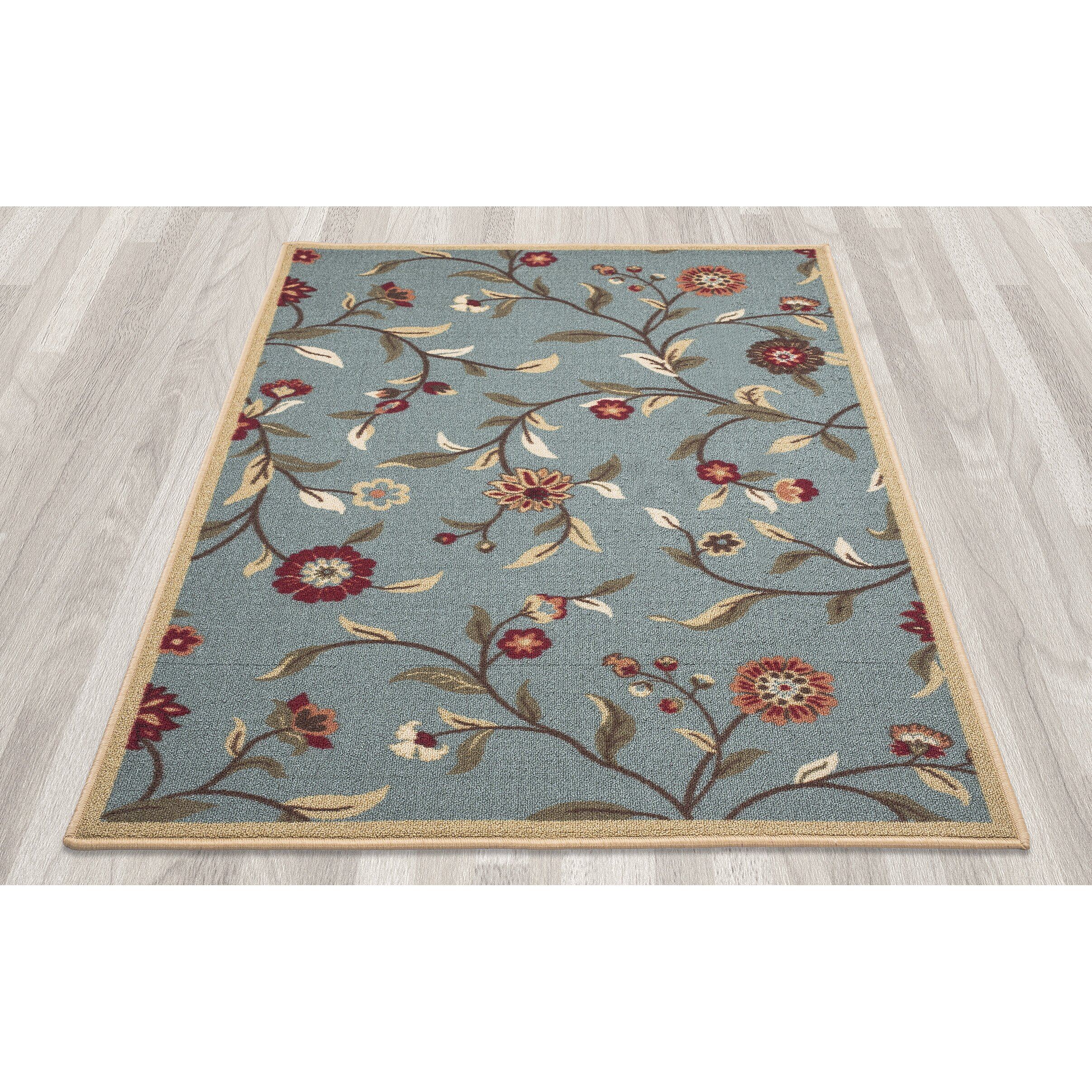 Threadbind Rockport Blue Indoor Outdoor Area Rug & Reviews