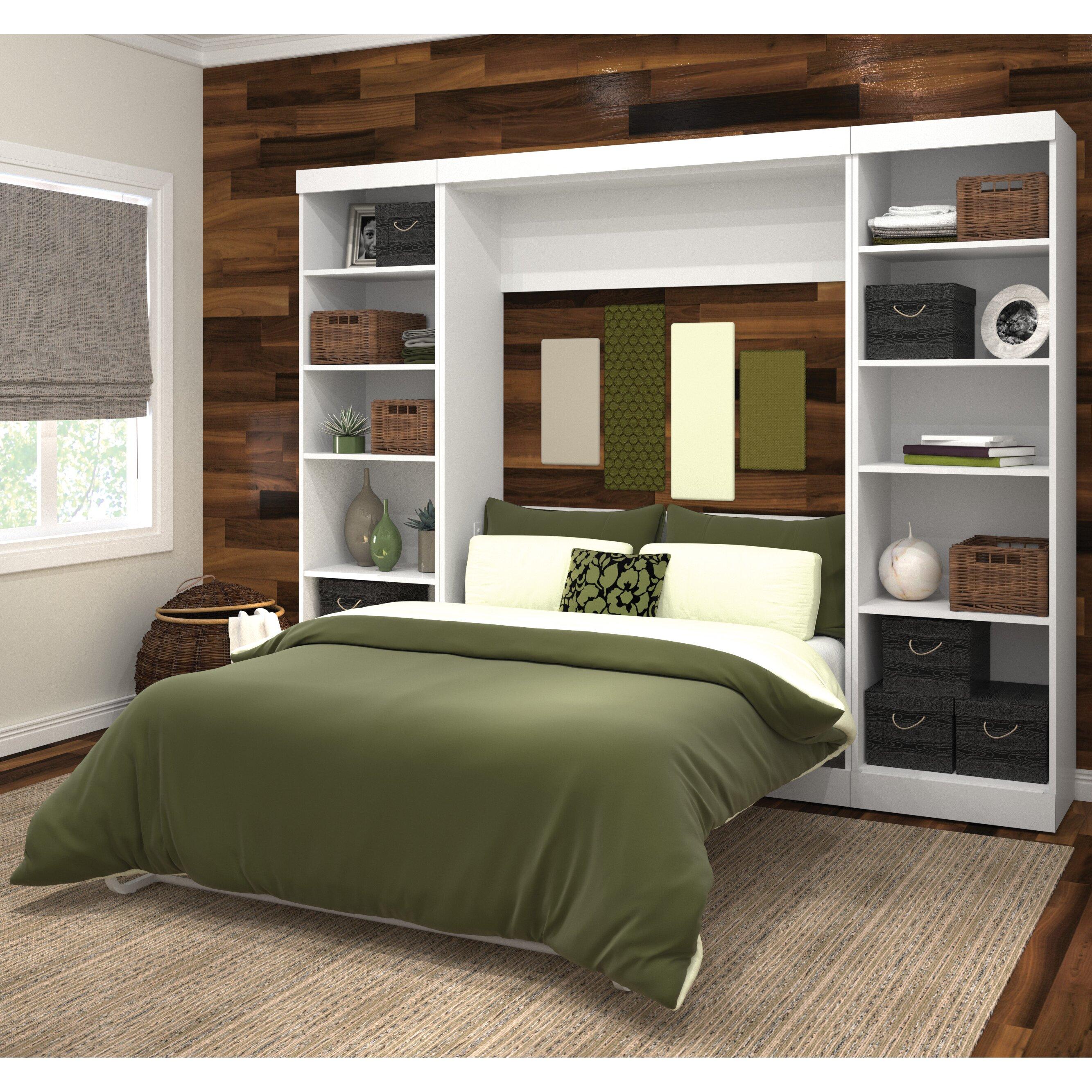 Latitude Run Full Double Storage Murphy Bed Amp Reviews