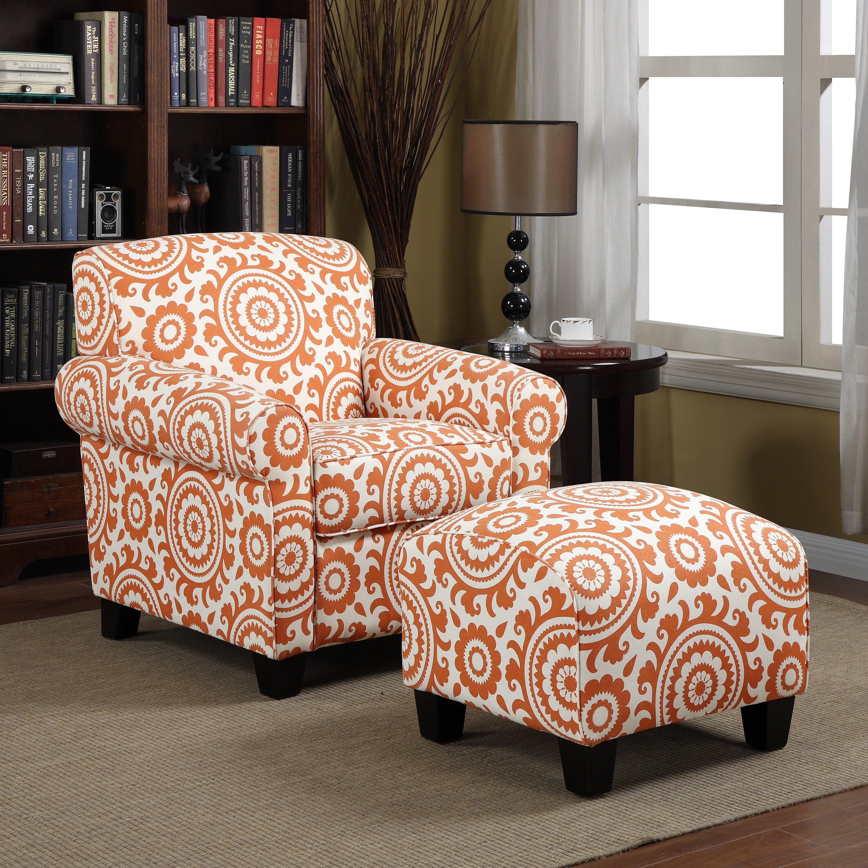 Latitude Run Clarke Arm Chair And Ottoman Amp Reviews Wayfair