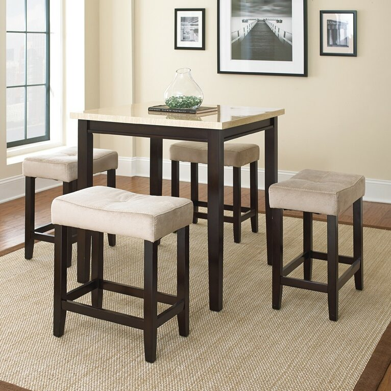 Counter Height Dining Sets 5 Piece : ... Run Rutherford 5 Piece Counter Height Dining Set & Reviews Wayfair