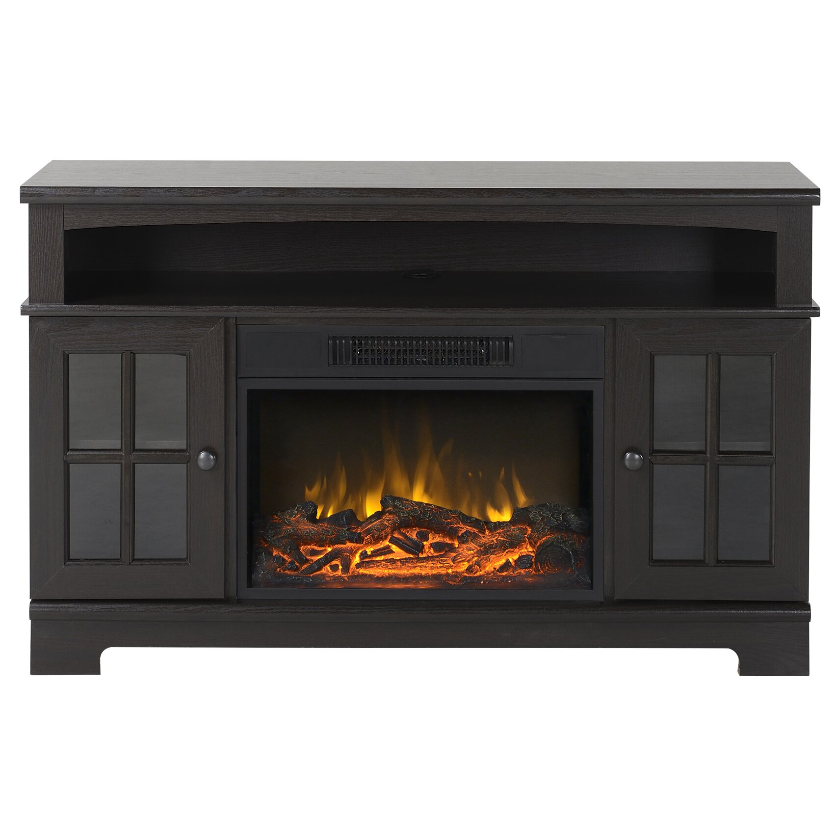 oliver tv stand with electric fireplace wayfair