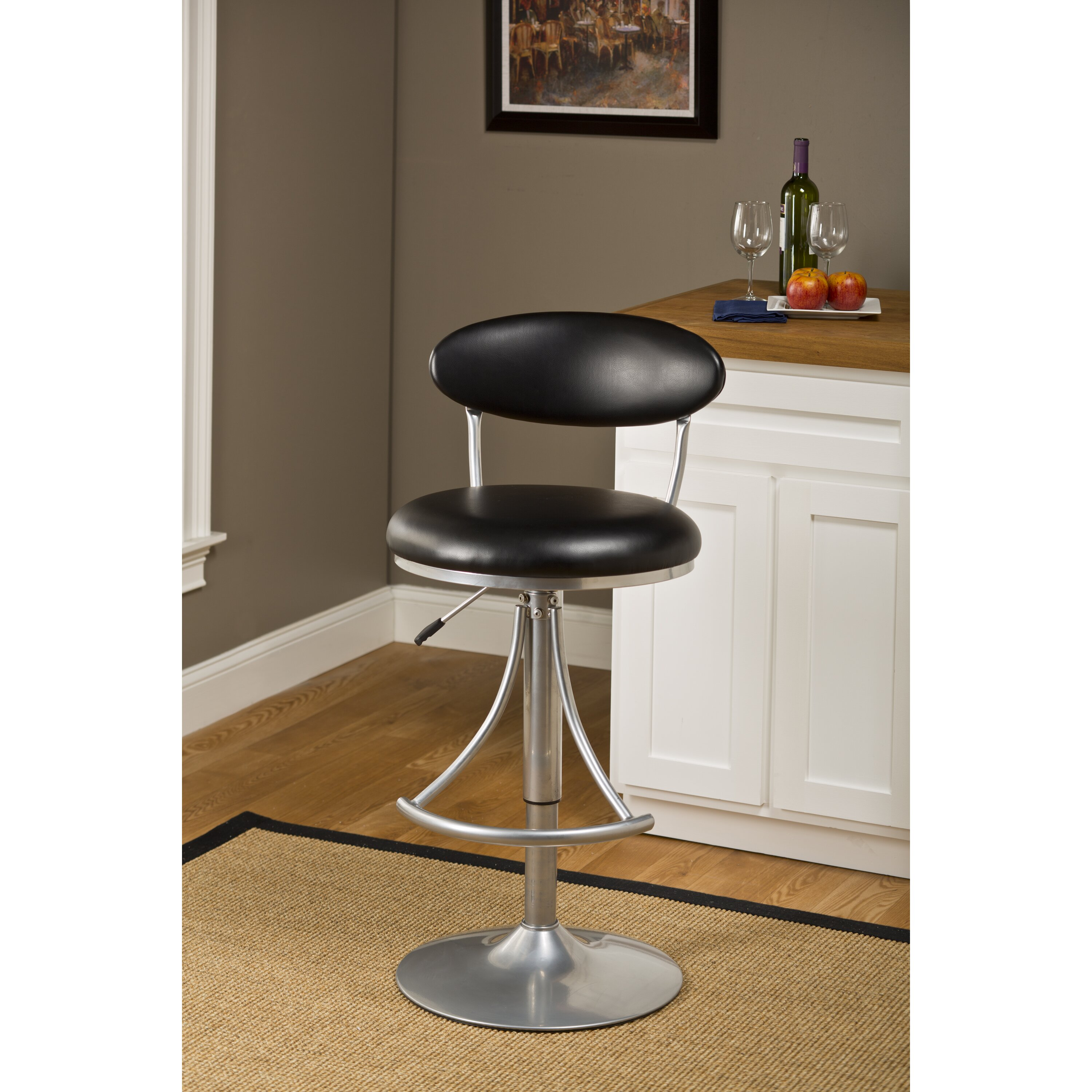 Elon 24 Quot Adjustable Swivel Bar Stool With Cushion Wayfair Ca